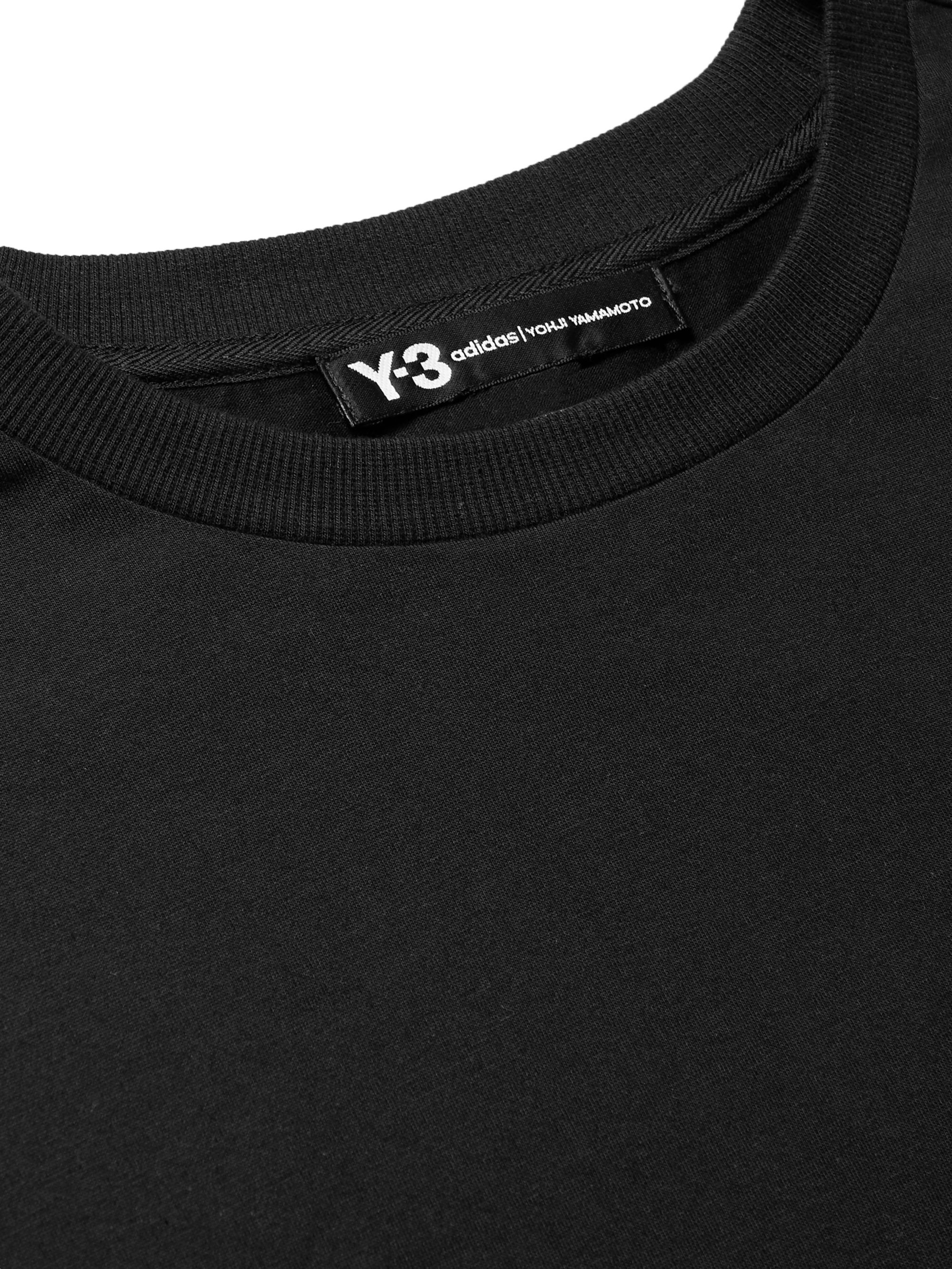 Y-3 Embroidered Printed Cotton-Jersey T-Shirt