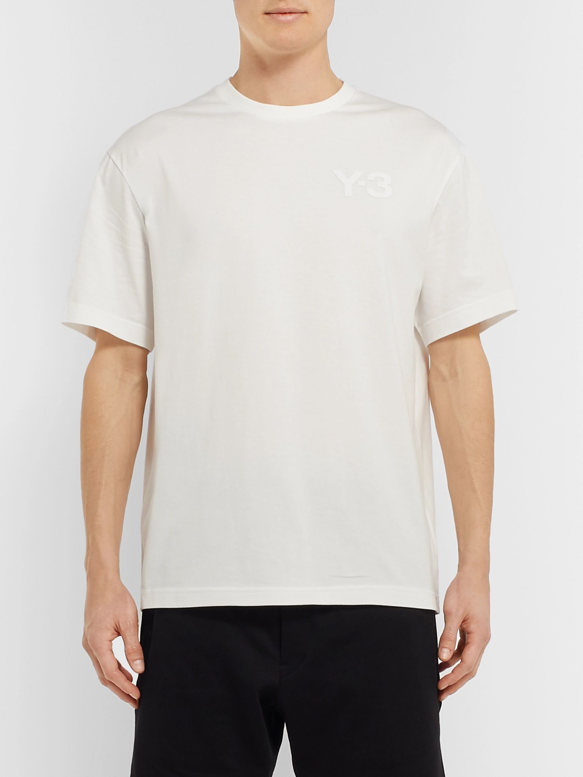 Y-3 Logo-Print Cotton-Jersey T-Shirt