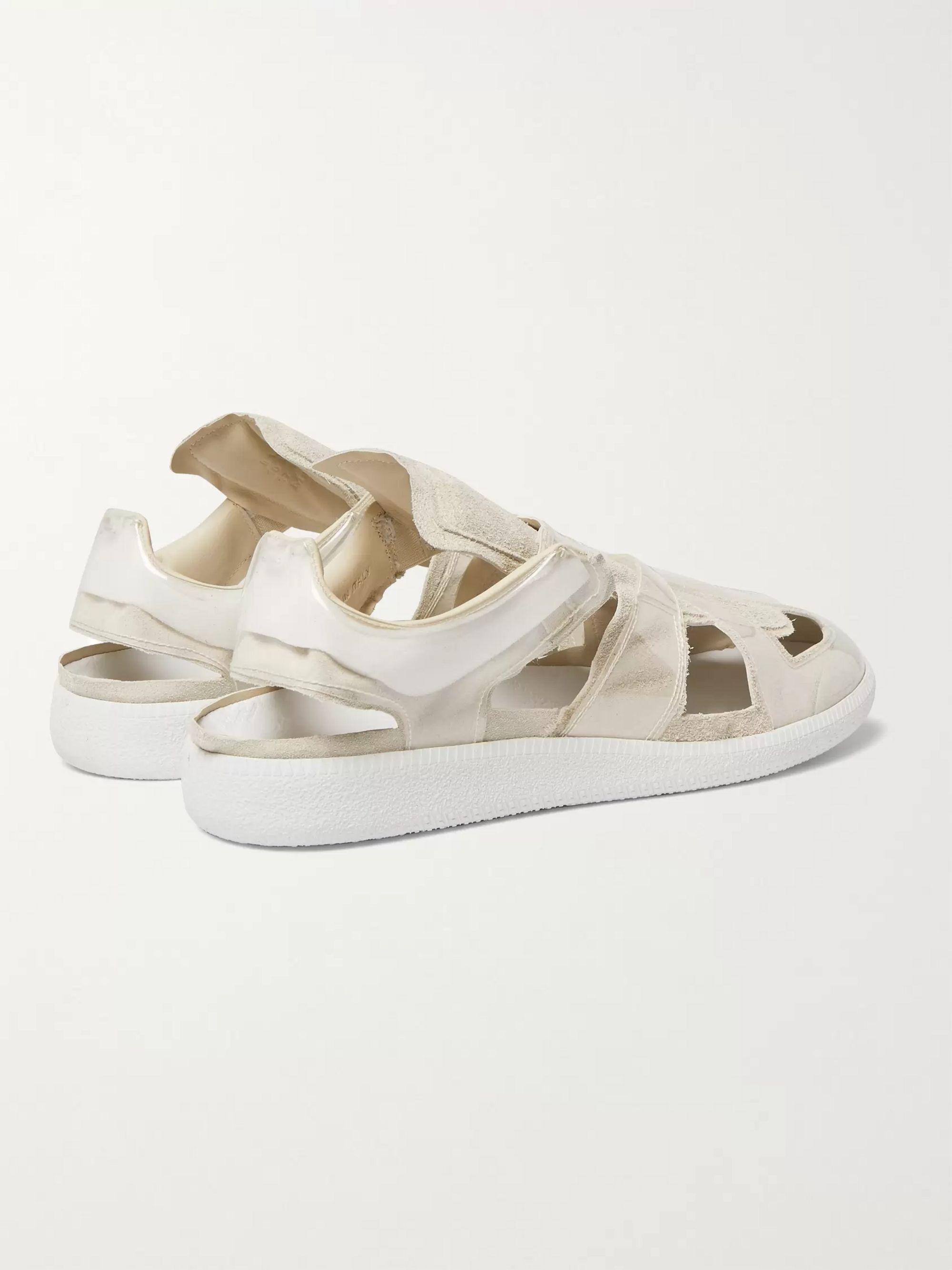 Maison Margiela Replica slip on sneakers Silver   Slip on