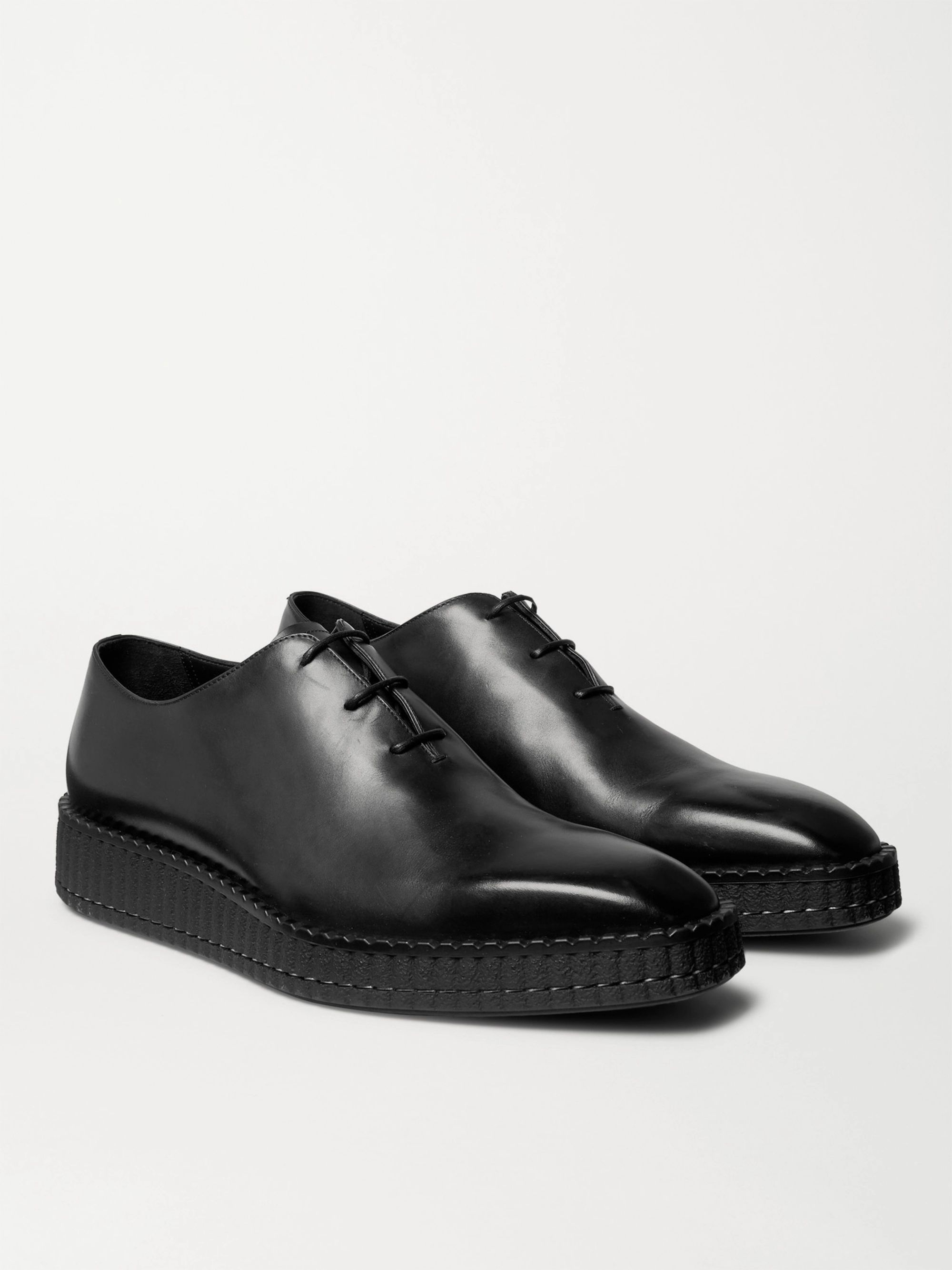 Berluti Alessandro Exaggerated-Sole Leather Oxford Shoes