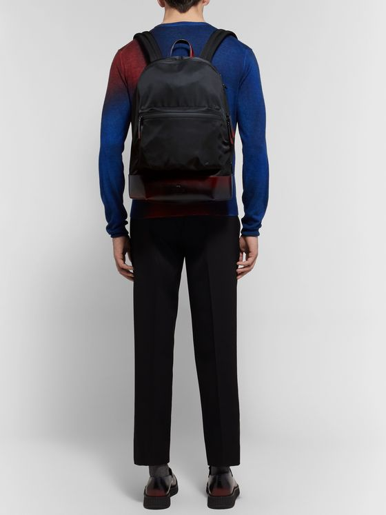 Berluti Volume MM Venezia Leather-Trimmed Nylon Backpack