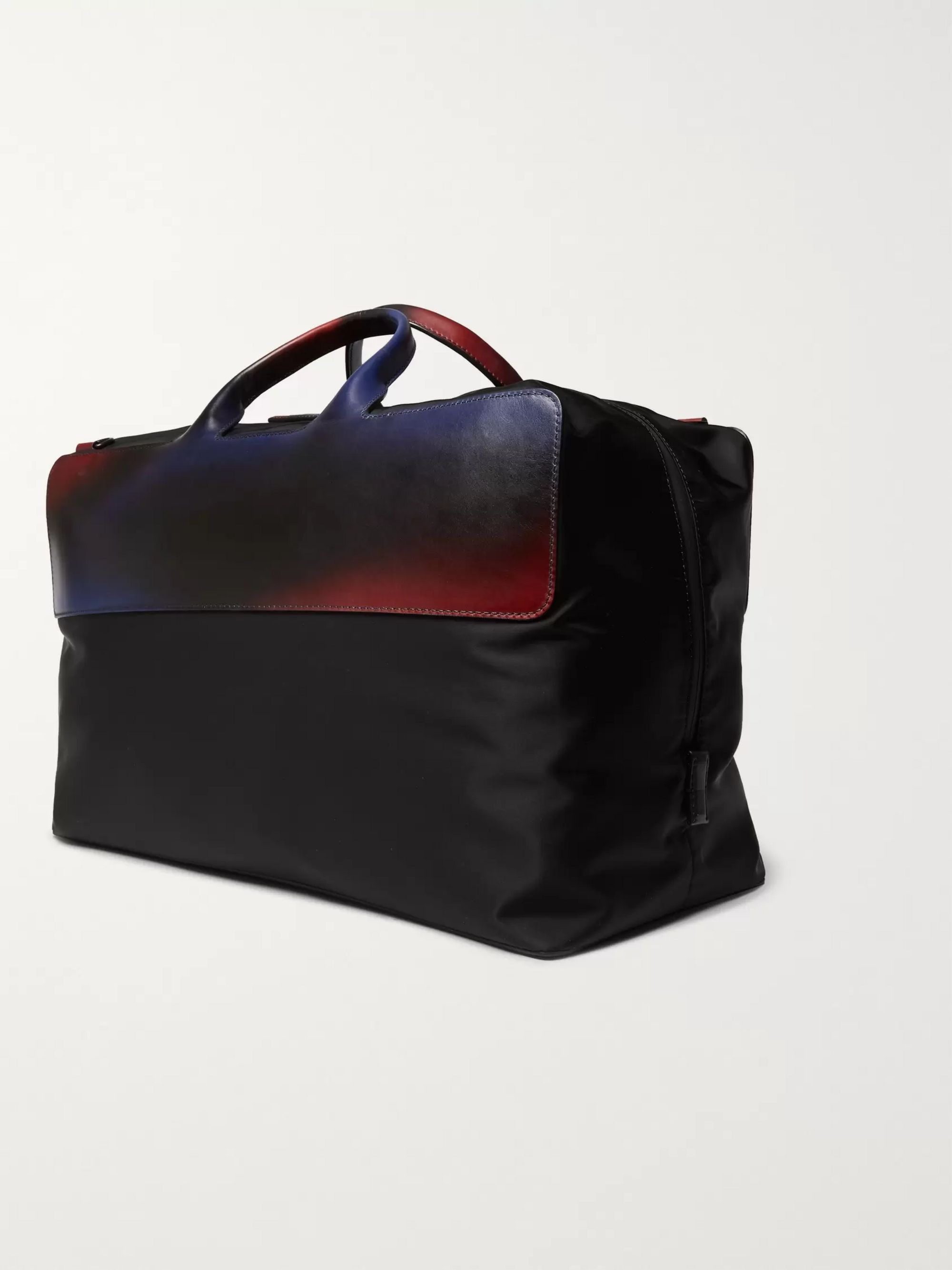 Berluti Cube Shell and Leather Holdall