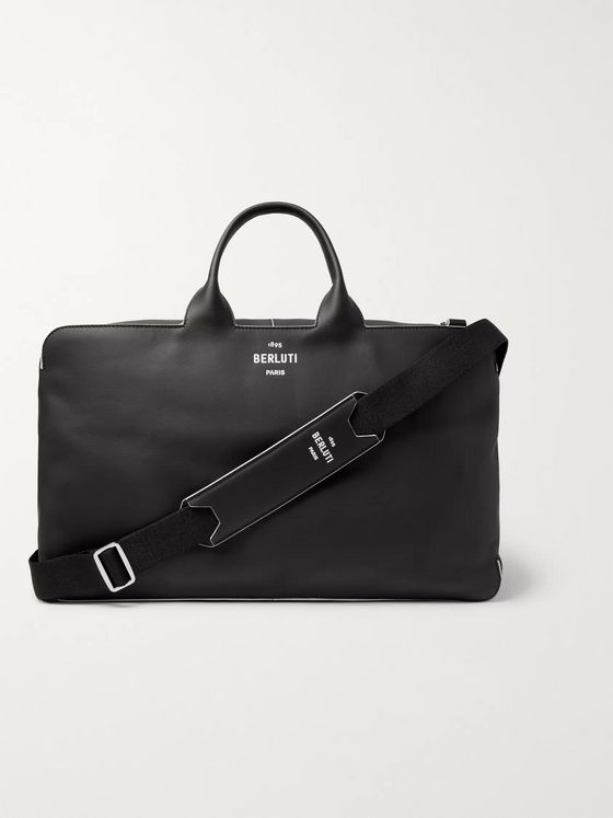 Berluti Cube Piped Leather Holdall