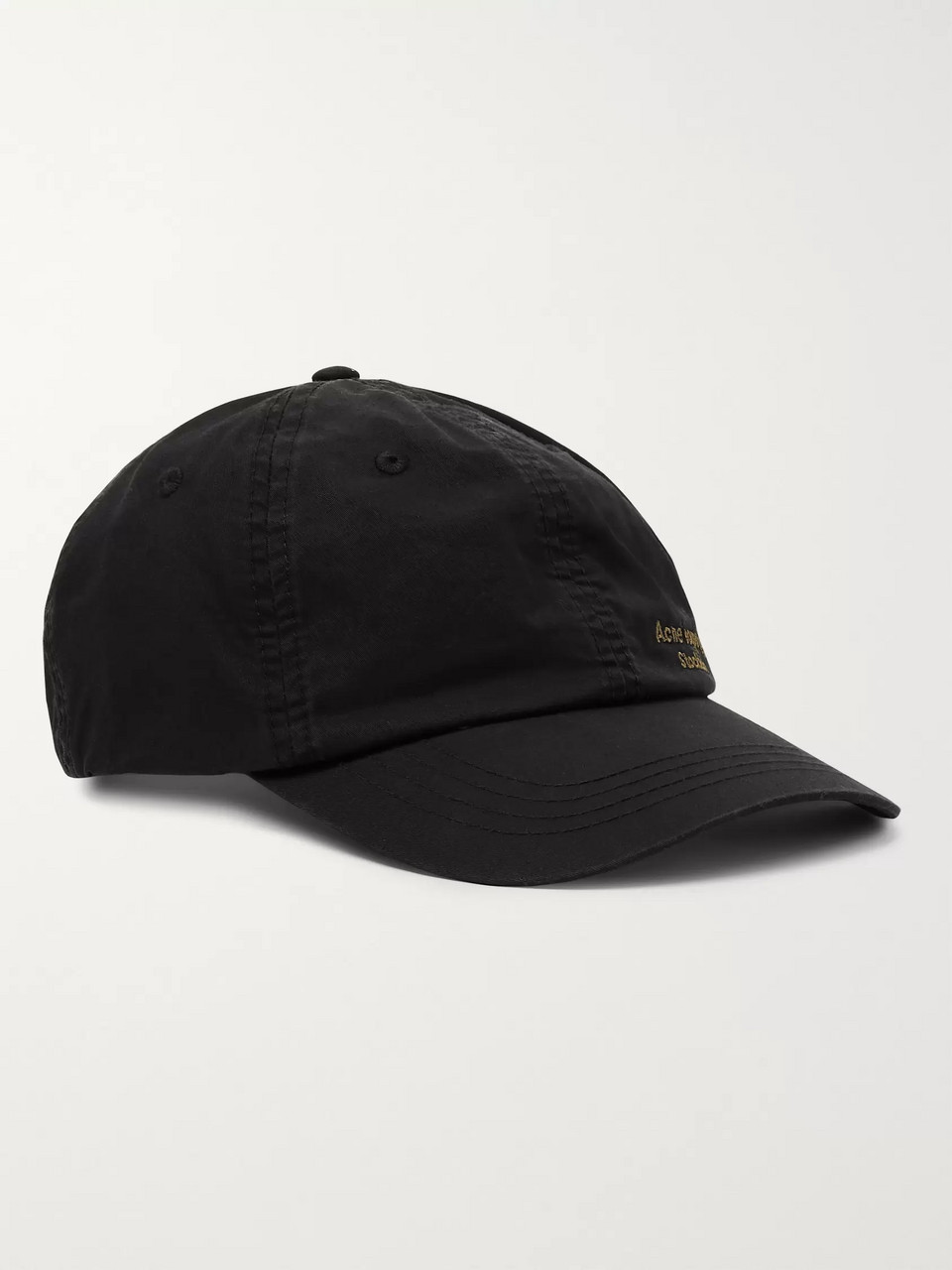 Acne Studios Carliy Logo-Embroidered Cotton-Canvas Baseball Cap