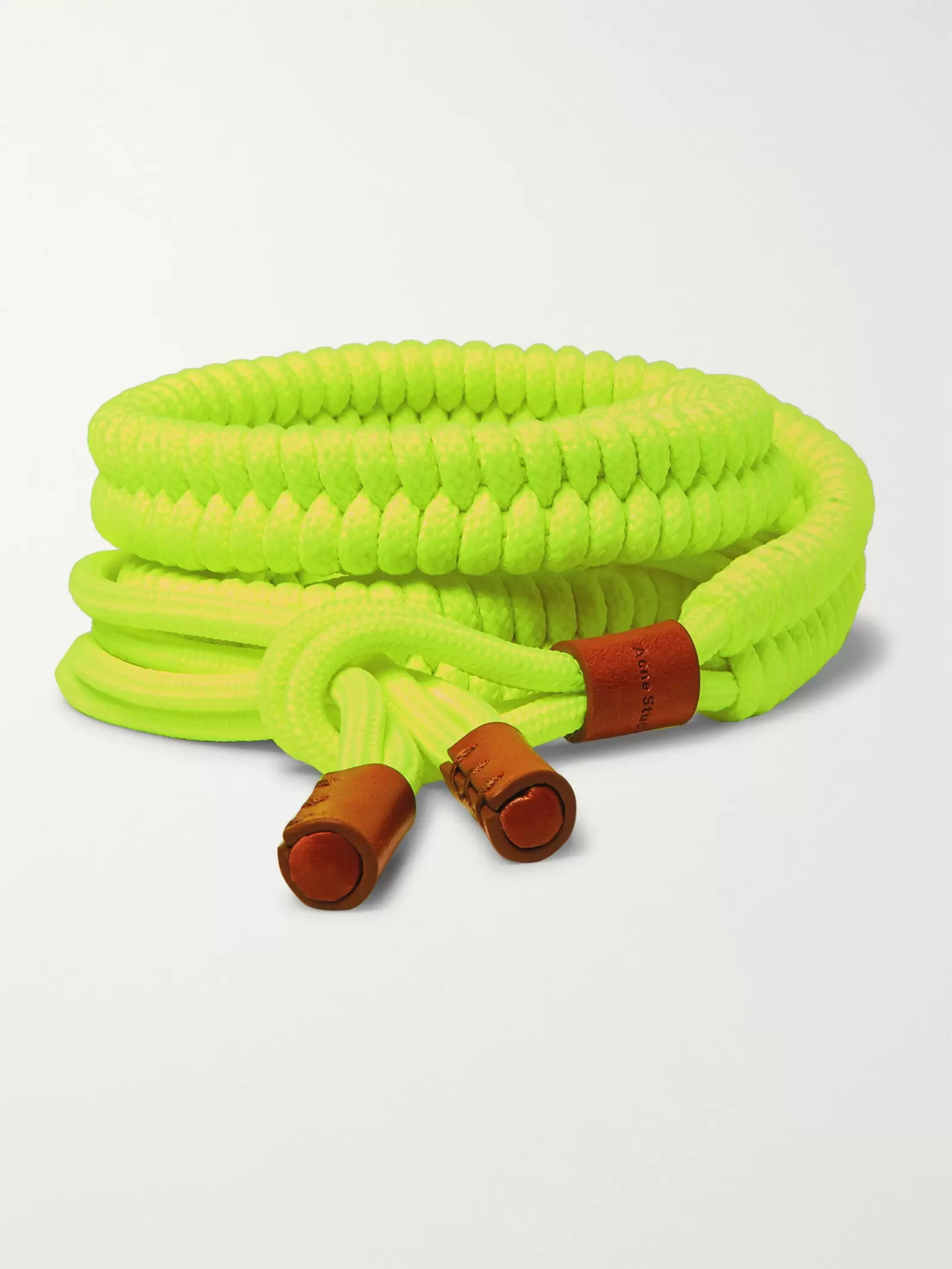 Acne Studios 2.5cm Neon-Yellow Technical Rope Belt