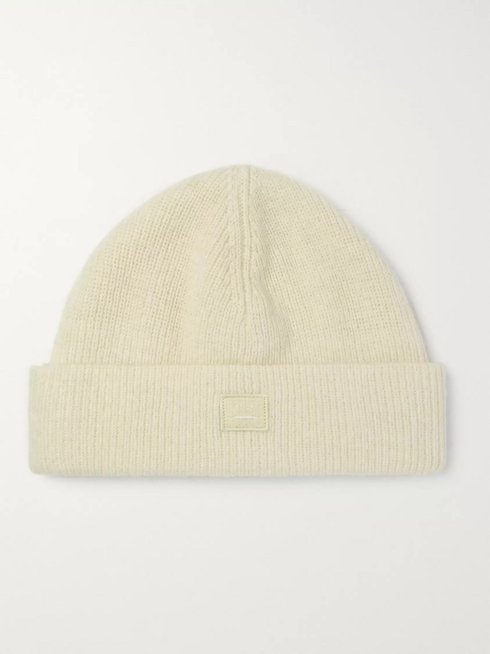 Acne Studios Logo-Appliquéd Ribbed Wool-Blend Beanie