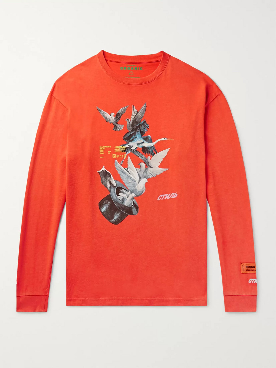 Heron Preston Oversized Logo-Embroidered Printed Cotton-Jersey T-Shirt