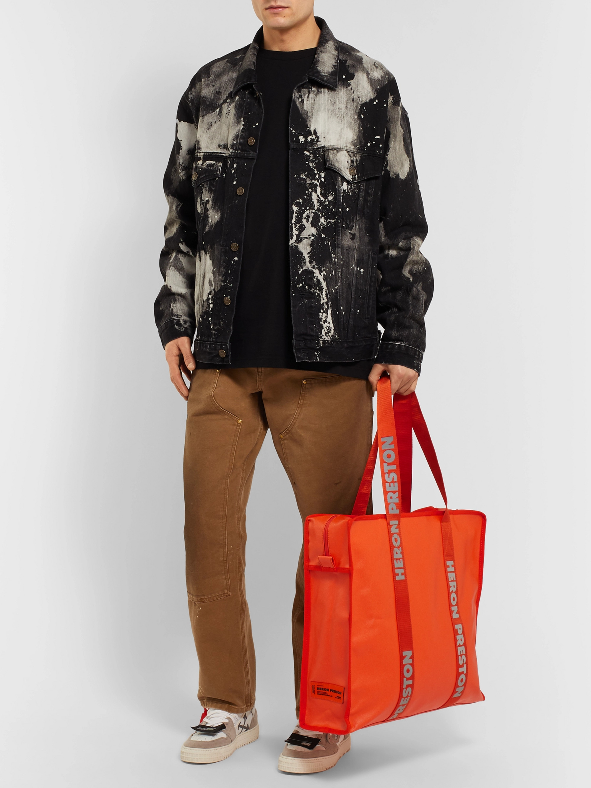 0cedf9067af27a Orange Logo-Print Shell Tote Bag | Heron Preston | MR PORTER