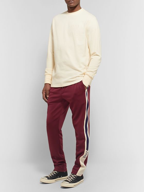 Aimé Leon Dore Tapered Webbing-Trimmed Tech-Jersey Track Pants