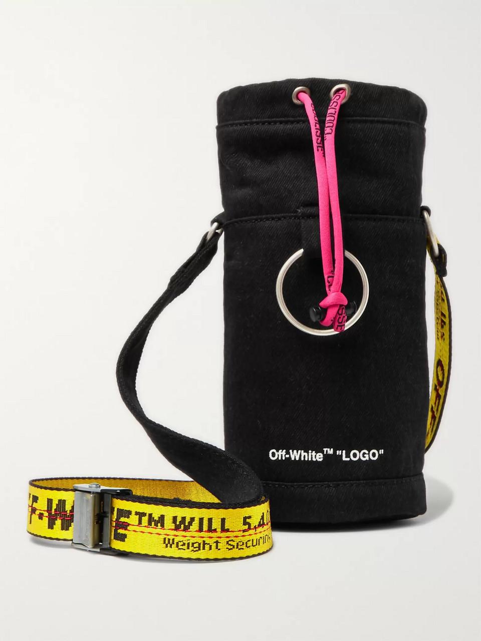 Off-White Logo-Print Cotton-Twill Bottle Carrier