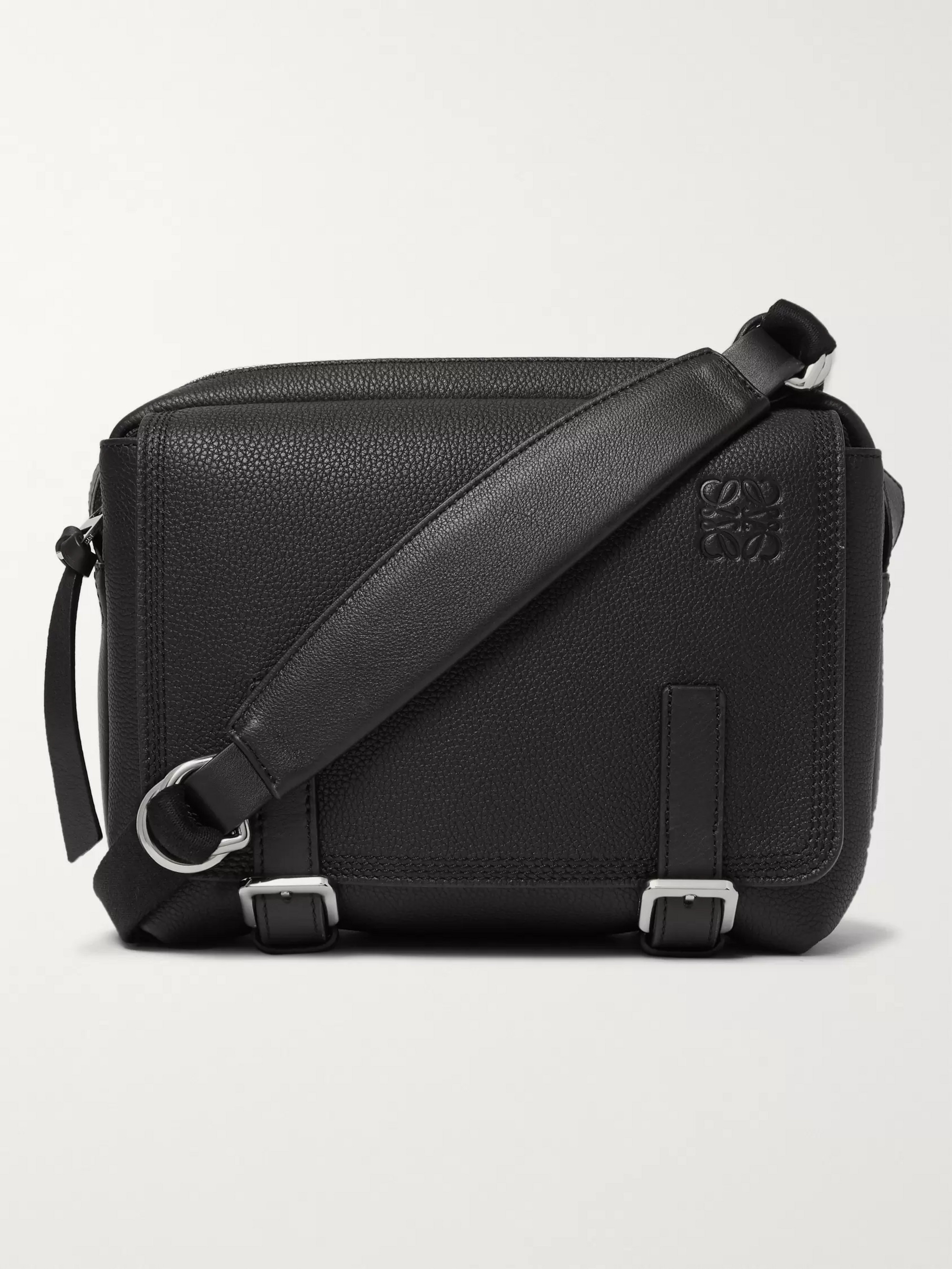 Loewe Military XS Full-Grain Leather Messenger Bag