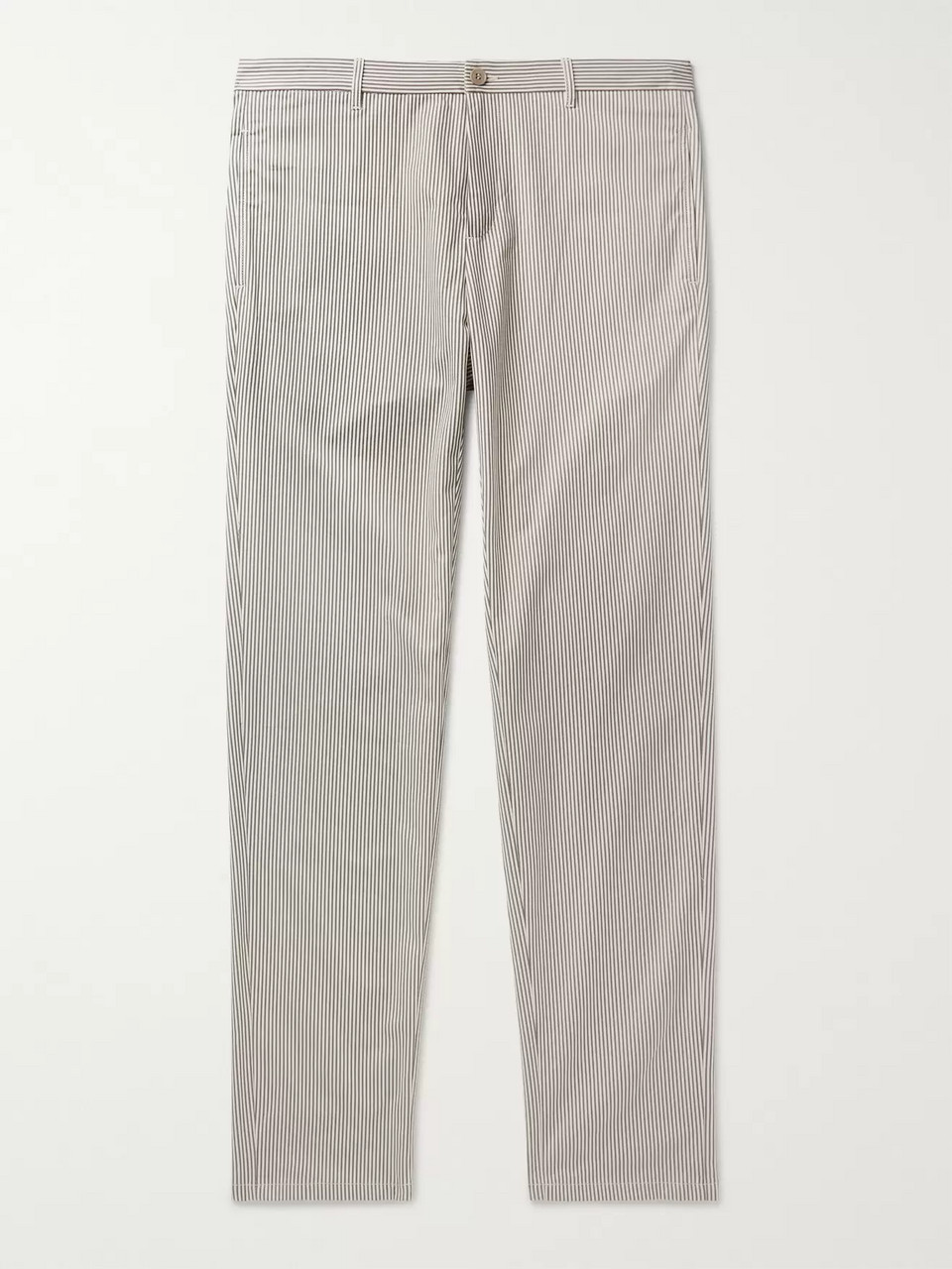 A.P.C. Pat Striped Cotton-Blend Gabardine Chinos