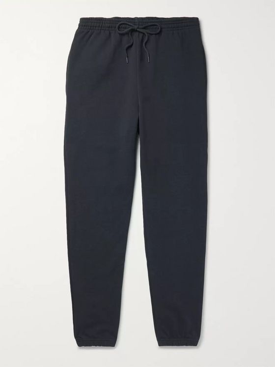 A.P.C. Virgil Slim-Fit Tapered Logo-Print Loopback Cotton-Blend Jersey Sweatpants