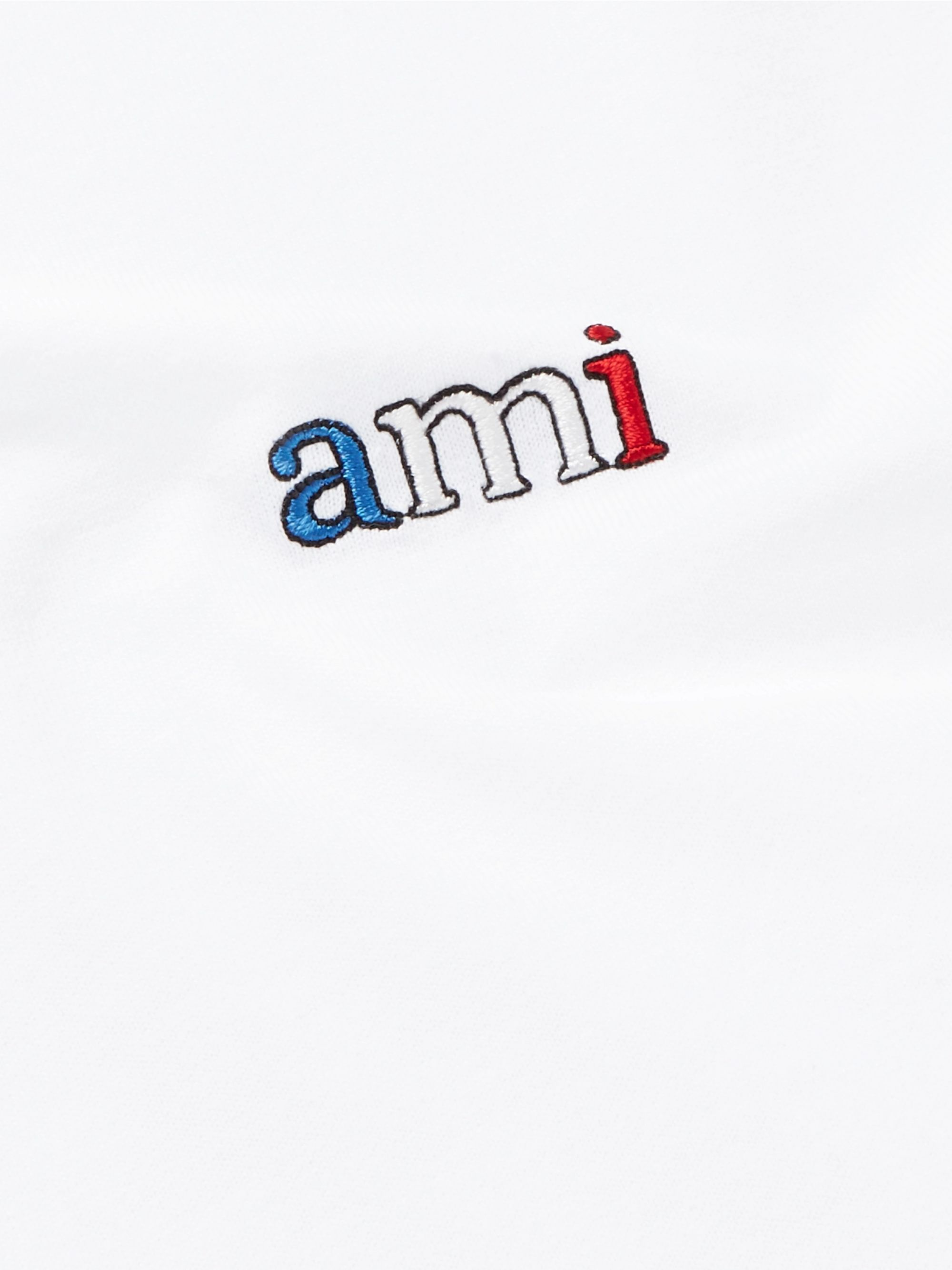 AMI Slim-Fit Logo-Embroidered Cotton-Jersey T-Shirt