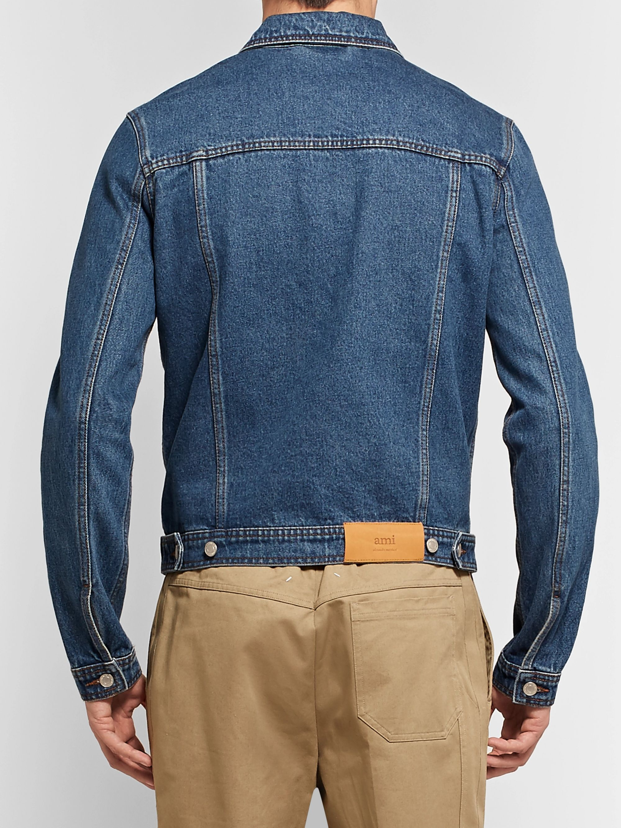 AMI Slim-Fit Denim Jacket