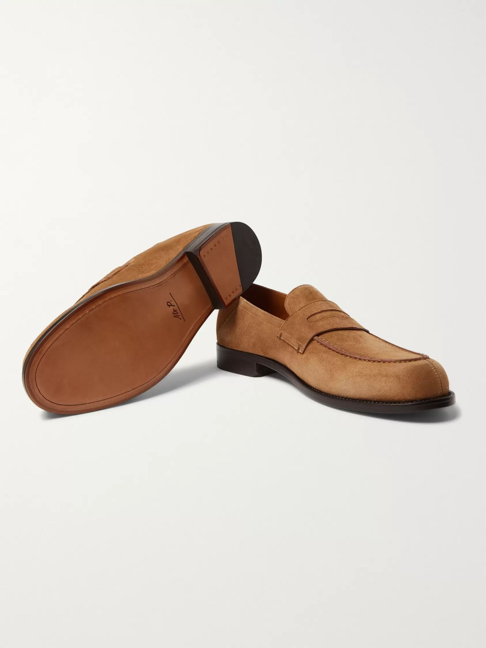 Mr P. Dennis Collapsible-Heel Suede Loafers