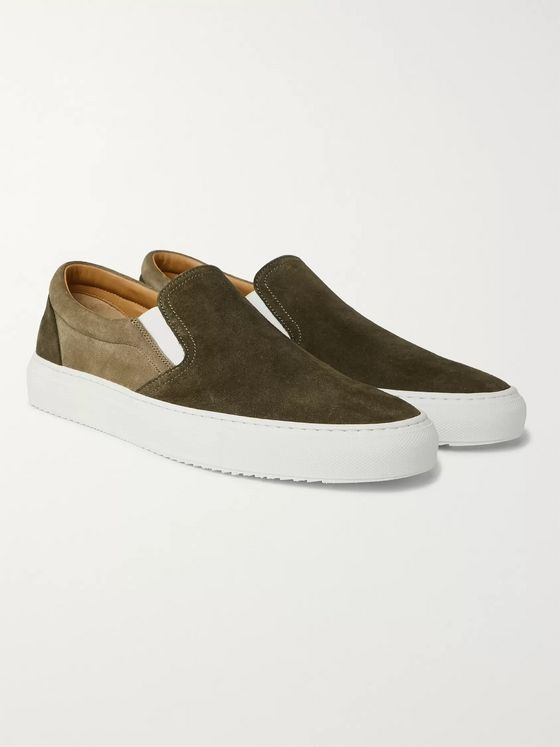 Mr P. Larry Suede Slip-On Sneakers