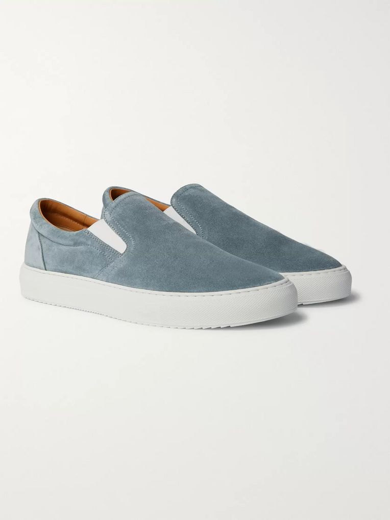 Mr P. Larry Colour-Block Suede Slip-On Sneakers