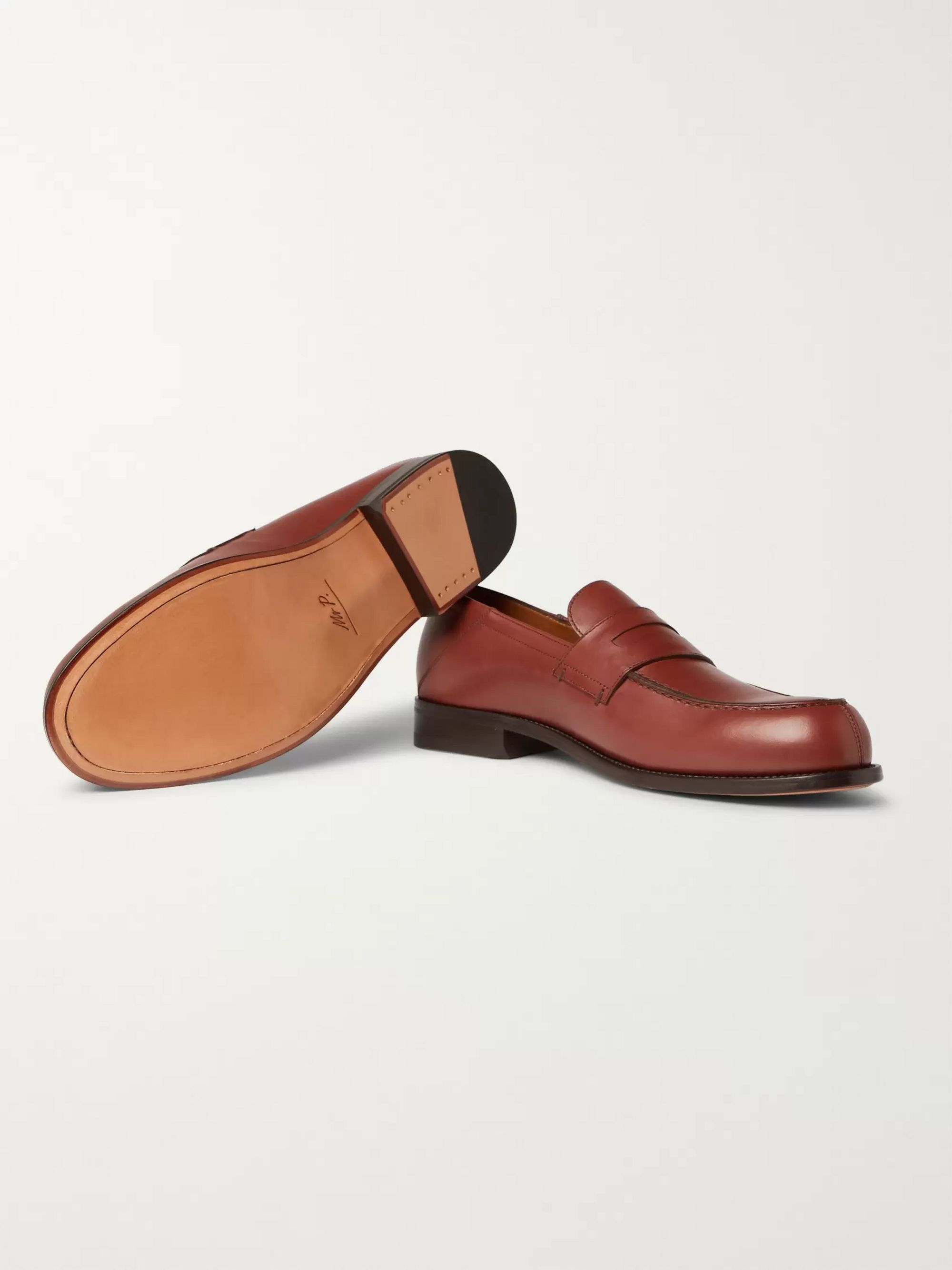 Mr P. Dennis Collapsible-Heel Leather Loafers