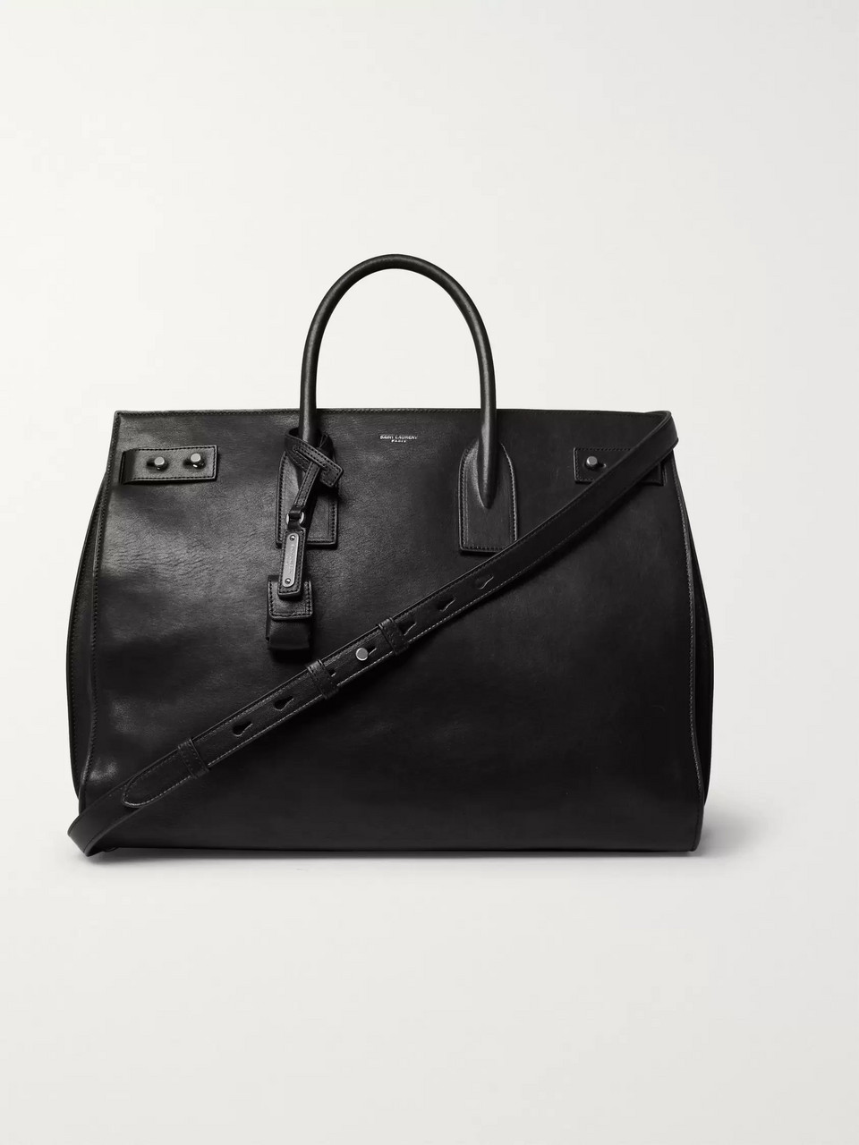 SAINT LAURENT Sac De Jour Large Textured-Leather Tote Bag