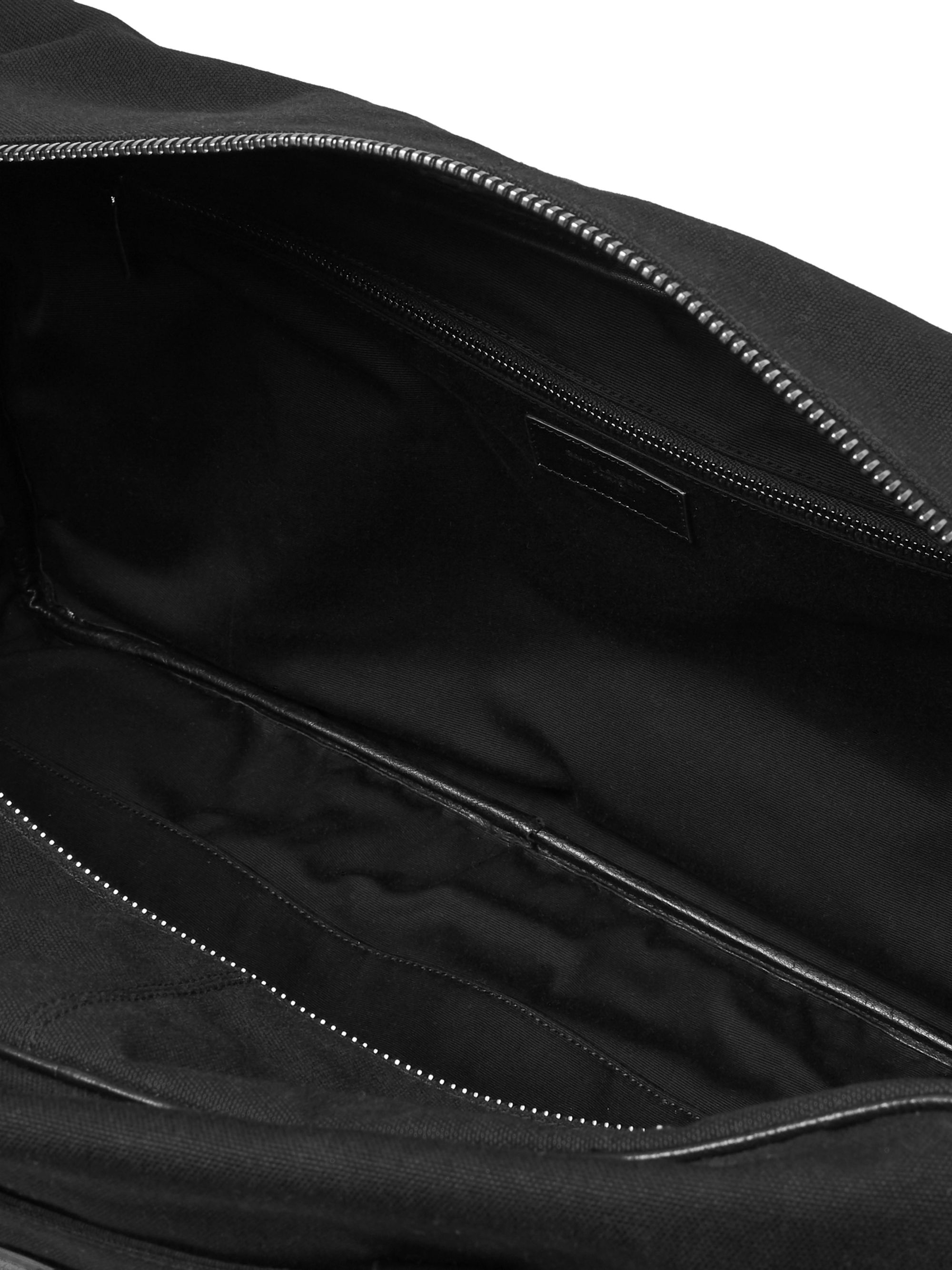 SAINT LAURENT Leather-Trimmed Canvas Holdall