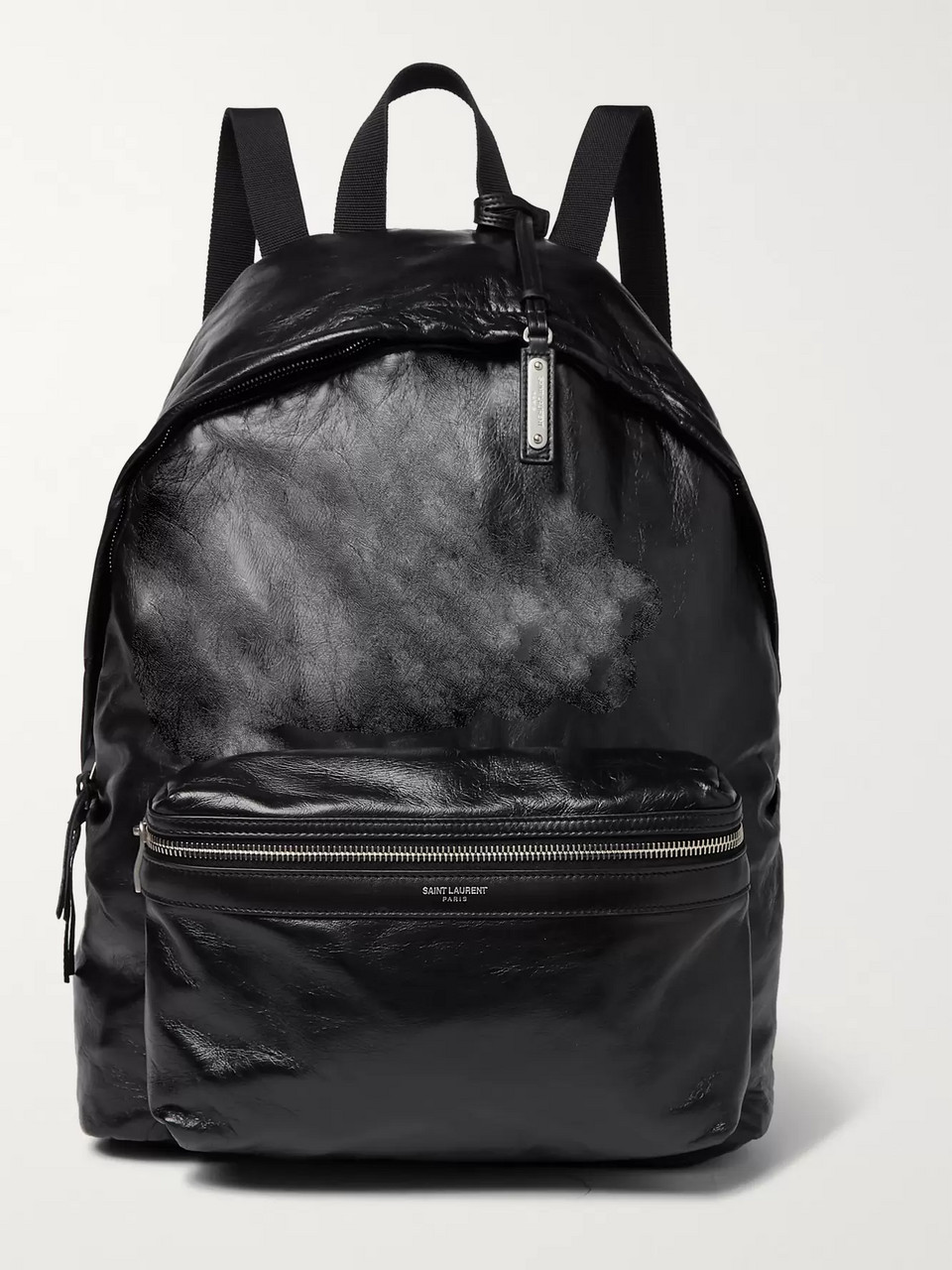 SAINT LAURENT Polished Textured-Leather Backpack