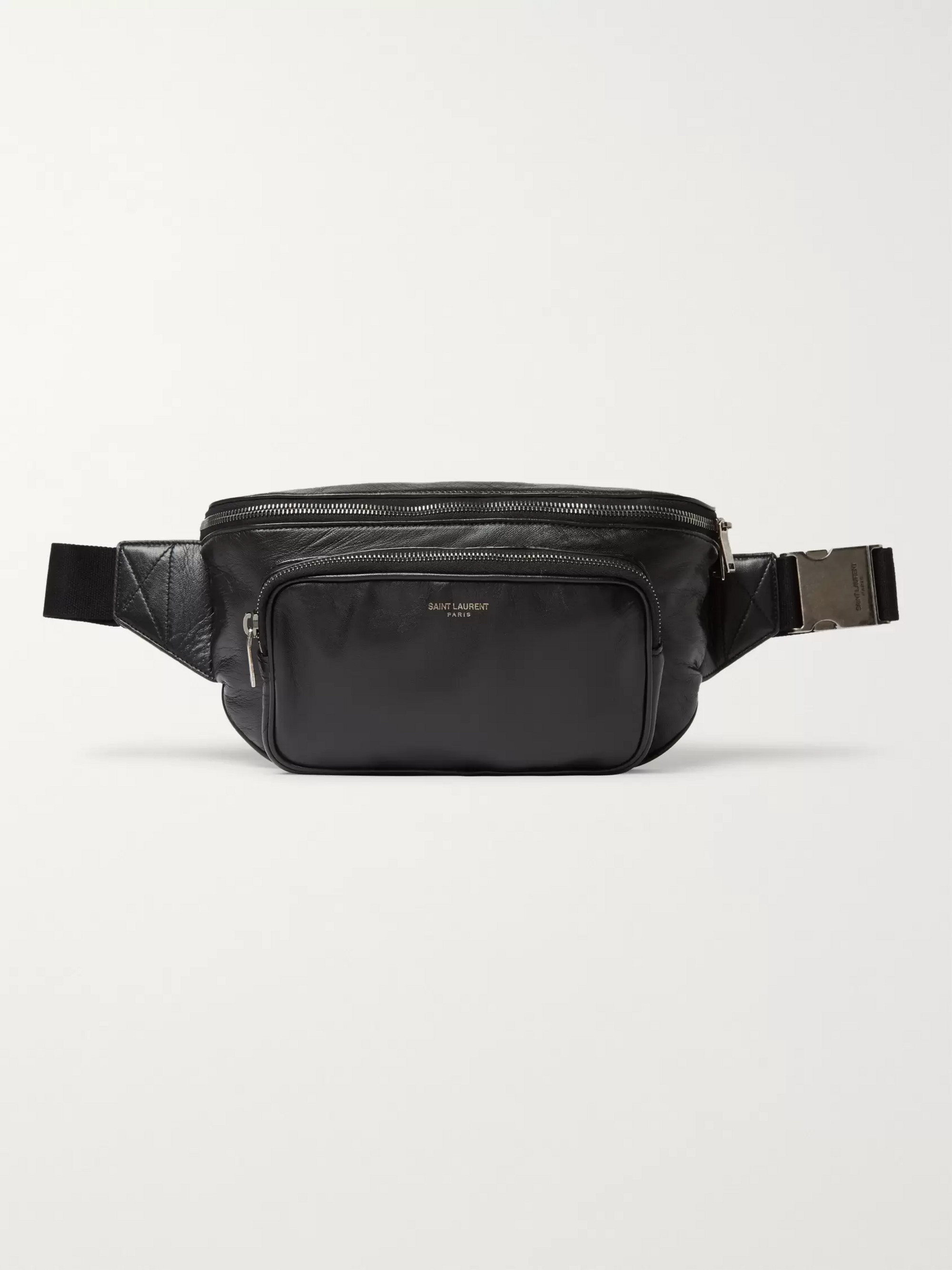 SAINT LAURENT Leather Belt Bag