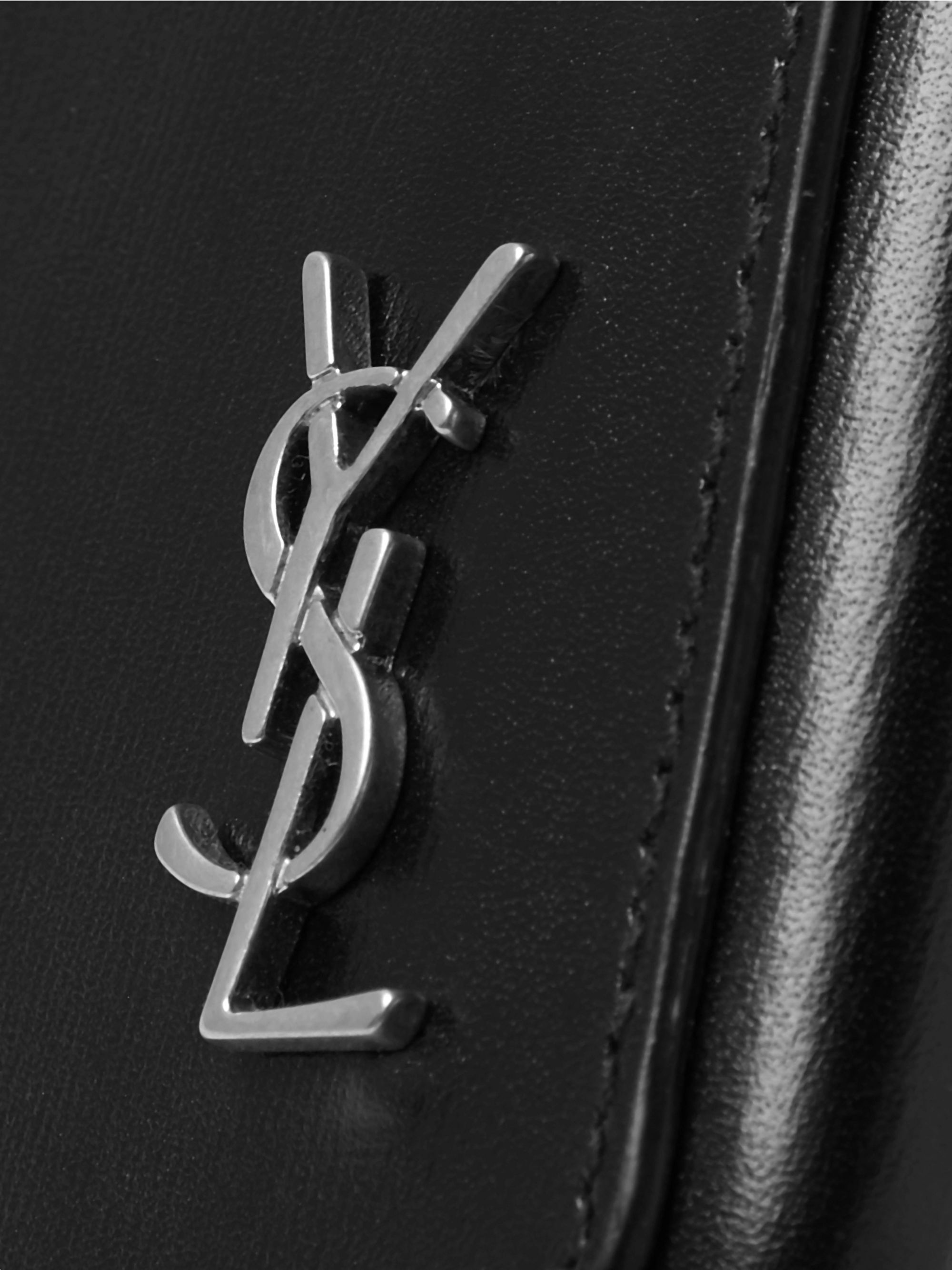 SAINT LAURENT Logo-Detailed Leather iPhone X Case