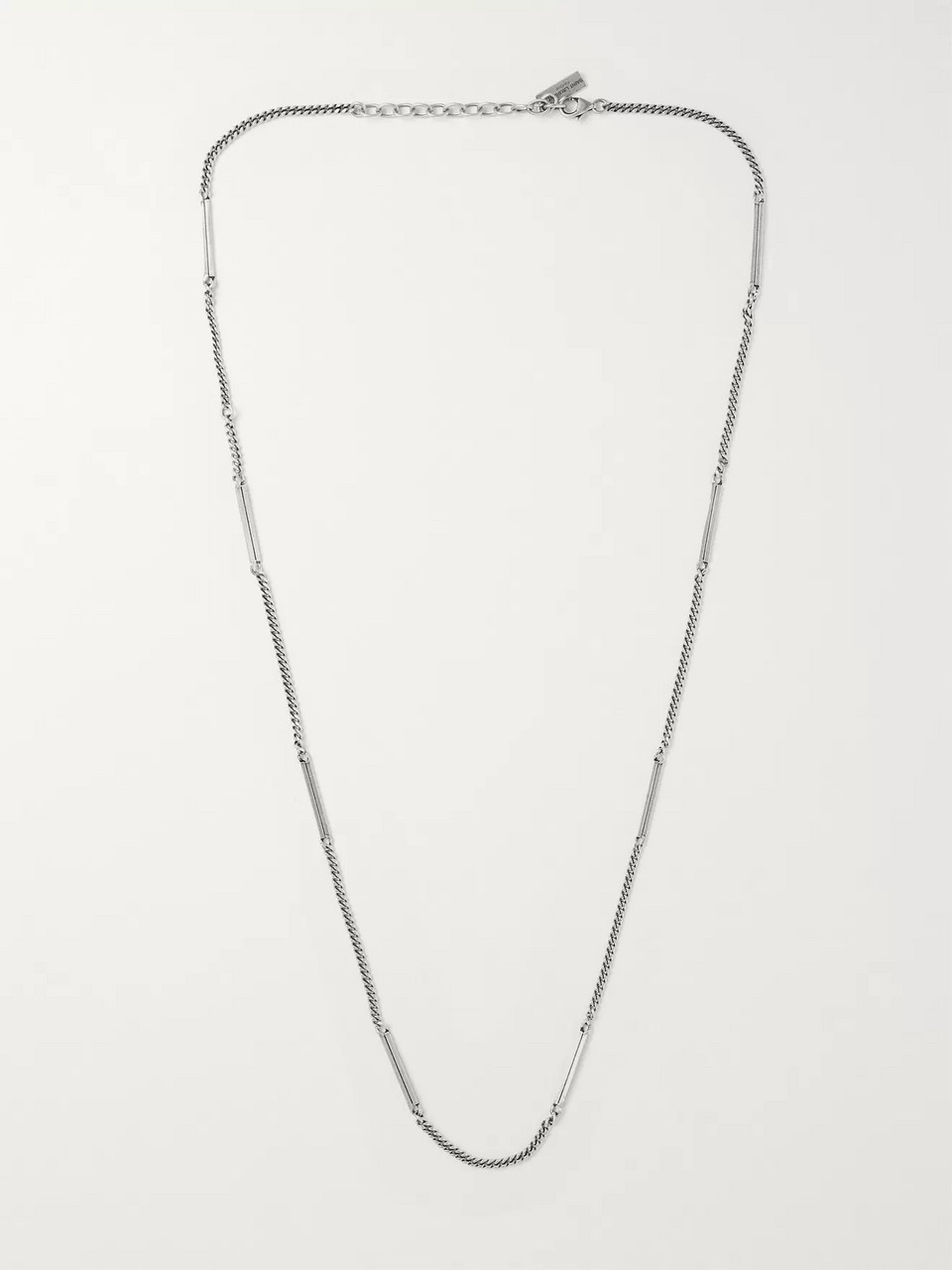SAINT LAURENT Burnished Silver-Tone Necklace