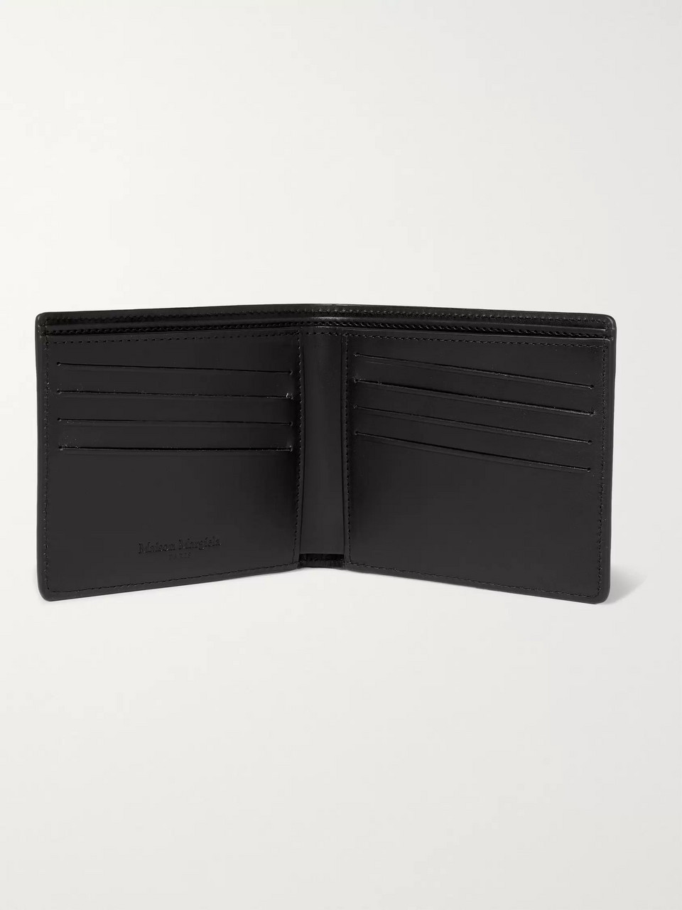 Maison Margiela Cutout Textured-Leather Billfold Wallet