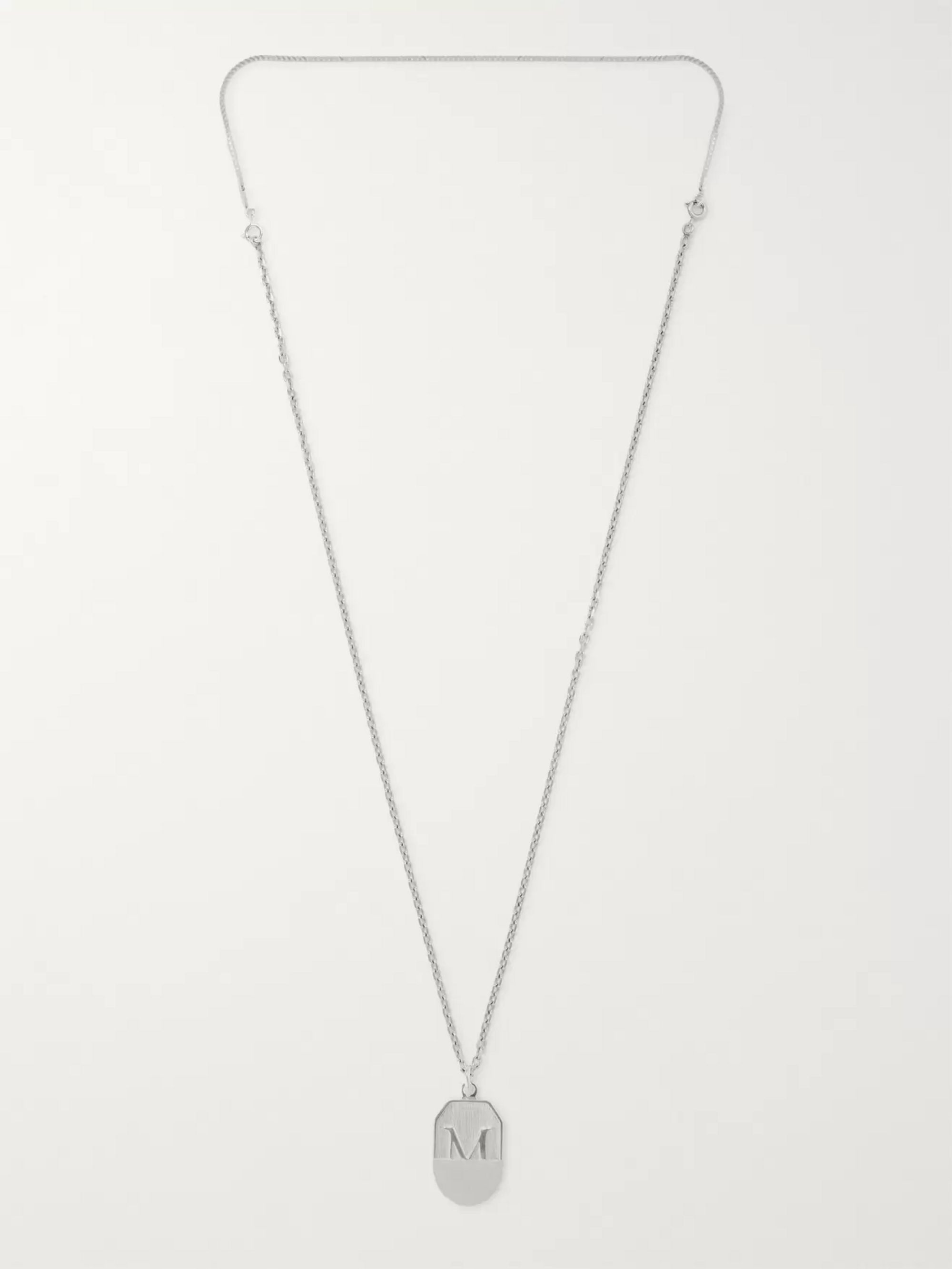 Maison Margiela Shield Sterling Silver Necklace