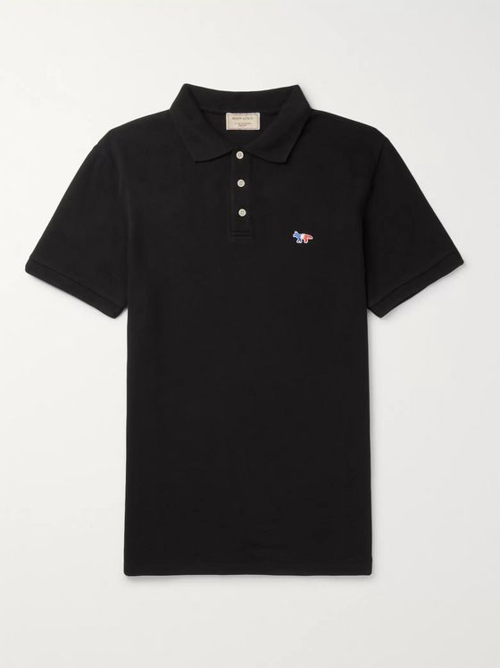 Maison Kitsuné Cotton-Piqué Polo Shirt