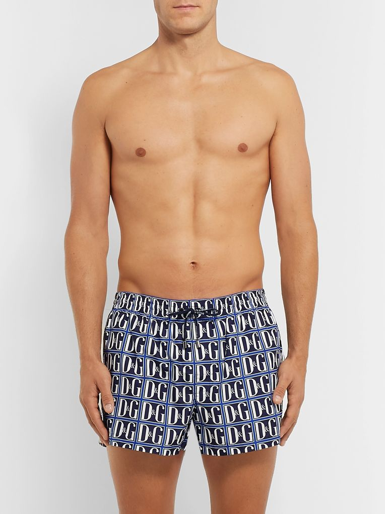 Dolce & Gabbana Short-Length Printed Swim Shorts