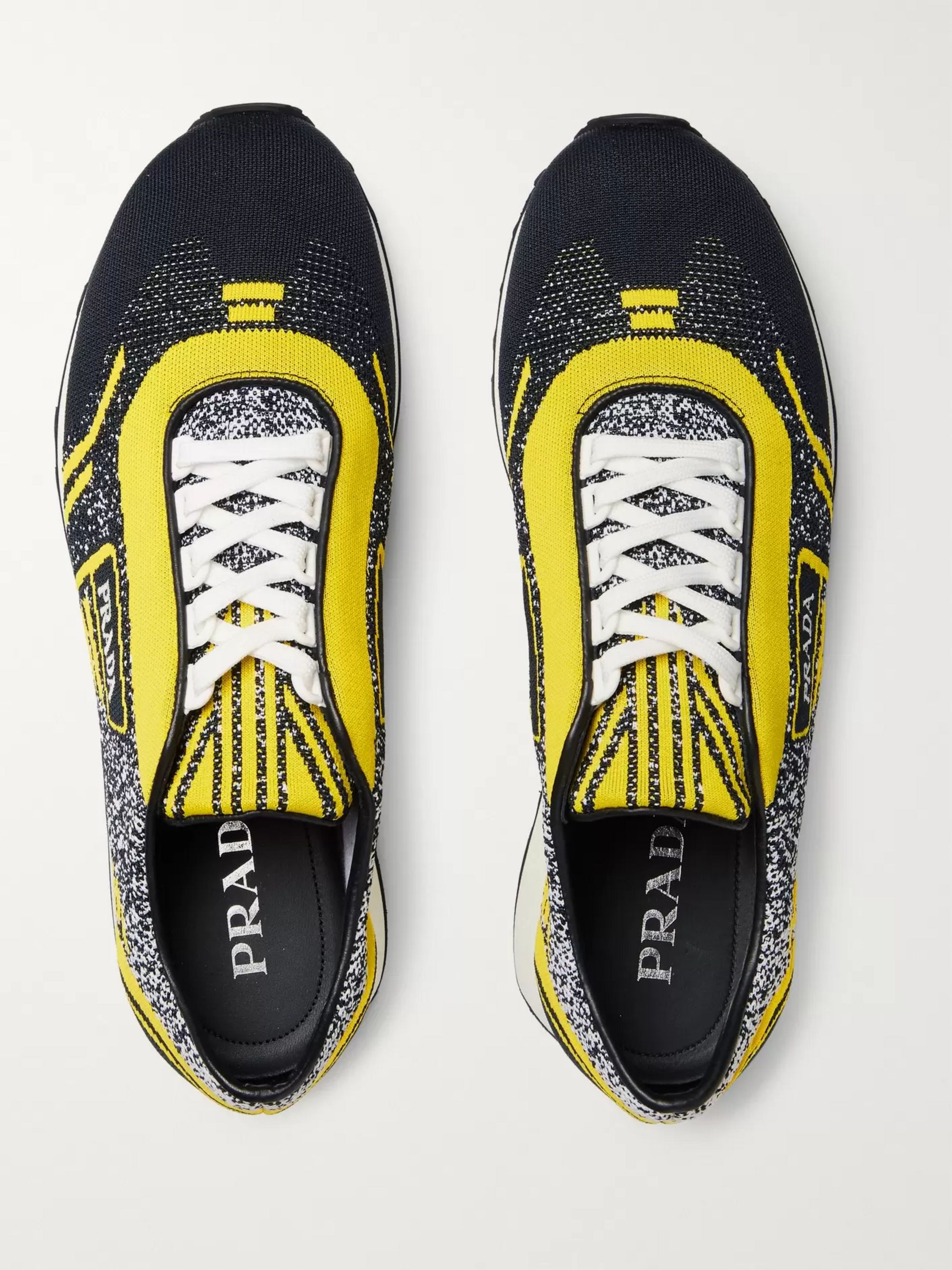 Prada Milano 70 Stretch-Knit Sneakers