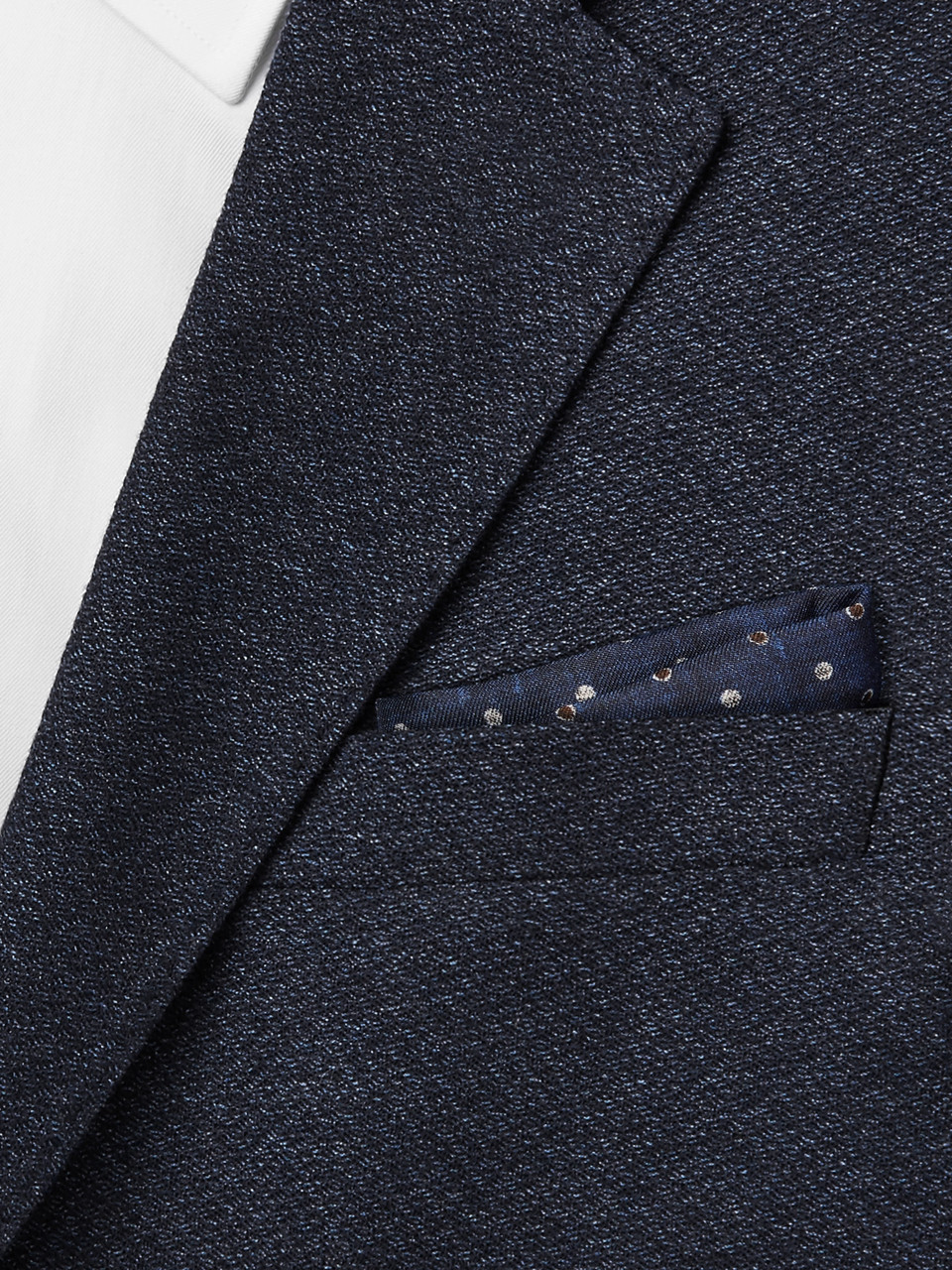 Brunello Cucinelli Reversible Printed Silk and Cotton-Blend Pocket Square