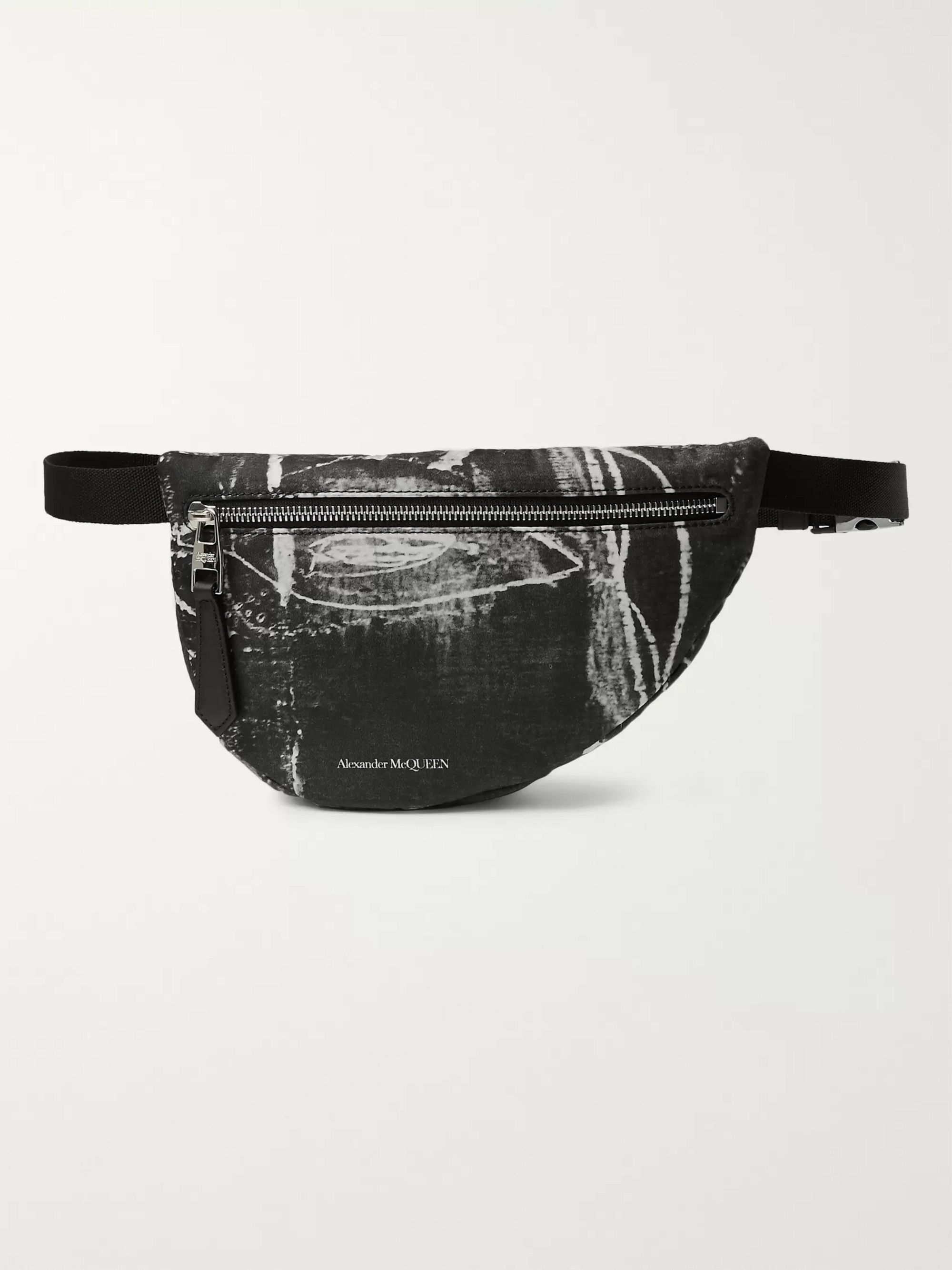 Alexander McQueen Printed Nylon Belt Bag