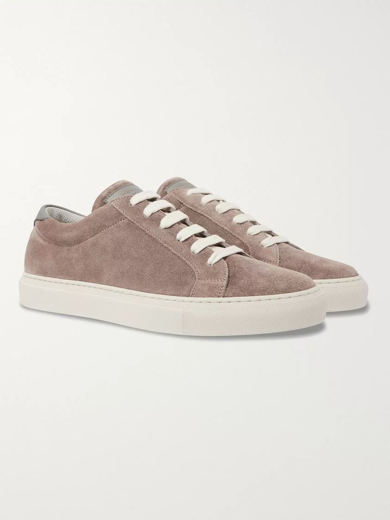 Brunello Cucinelli Leather-Trimmed Nubuck Sneakers