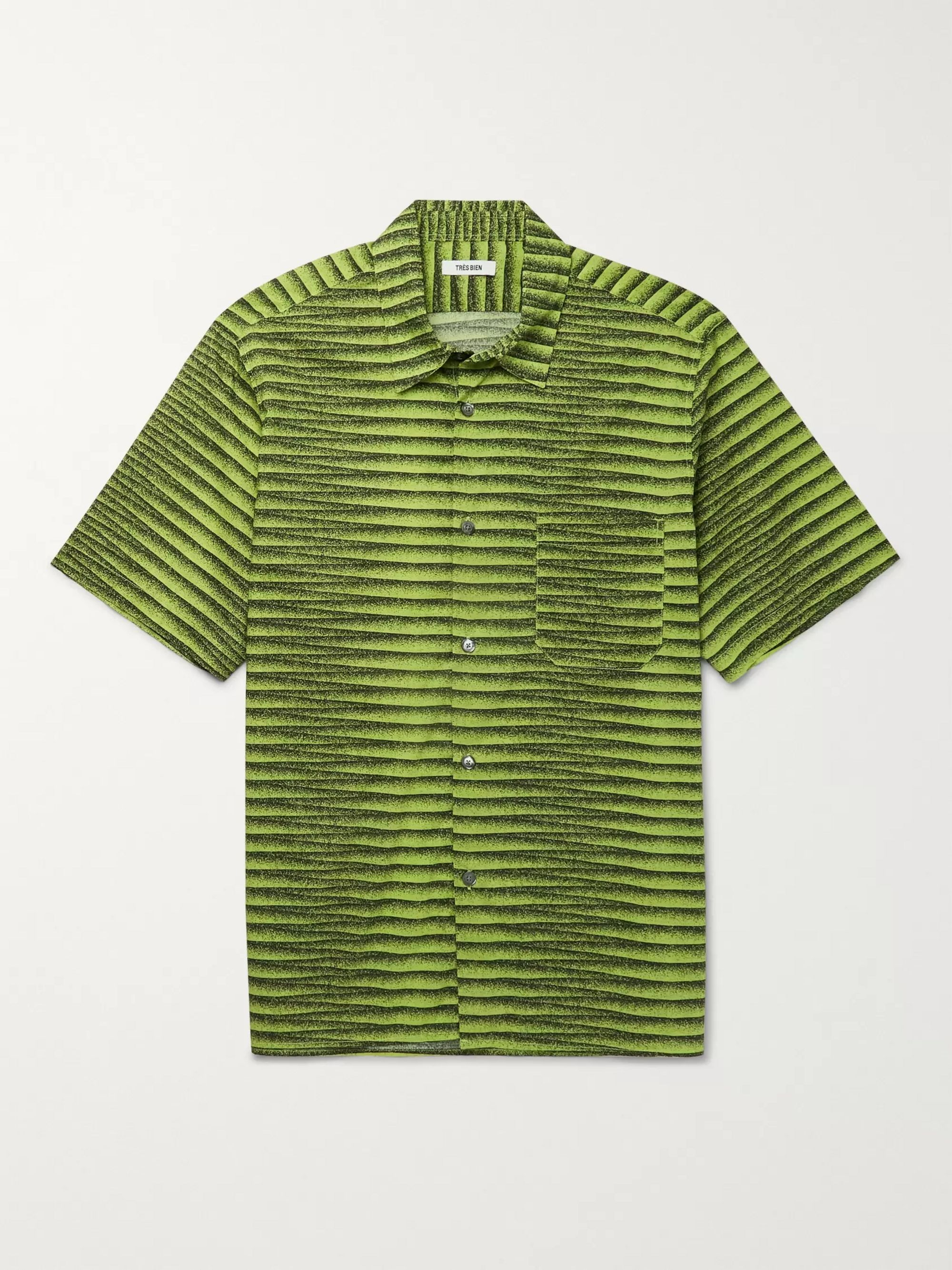 Très Bien Striped Cotton-Poplin Shirt