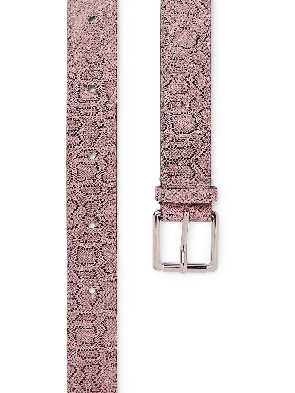 Très Bien Snake-Print Leather Belt