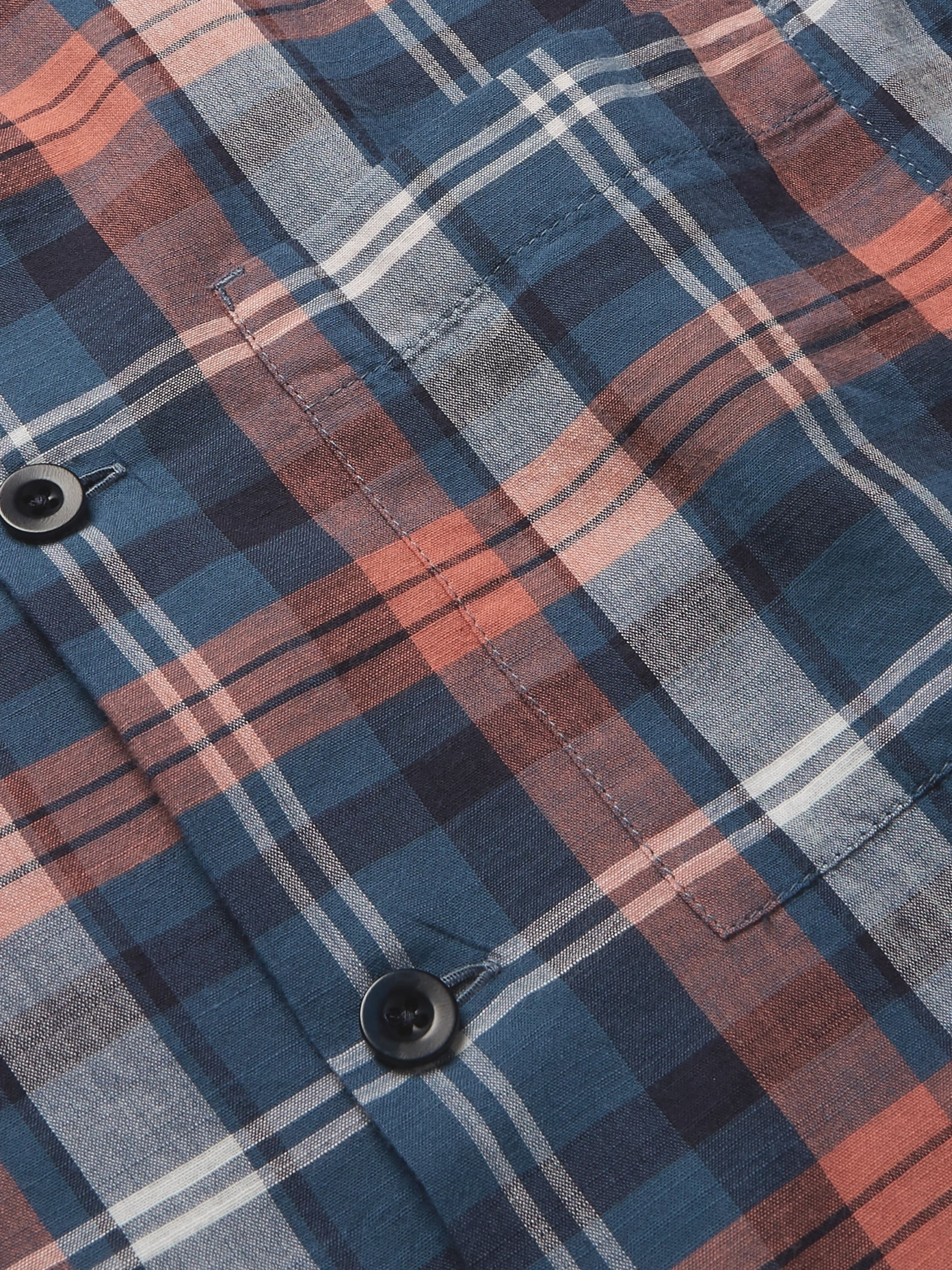 Mr P. Camp-Collar Checked Cotton Shirt