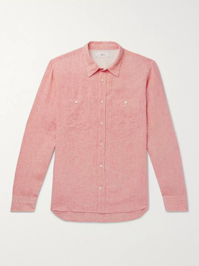 Mr P. Mélange Linen Shirt