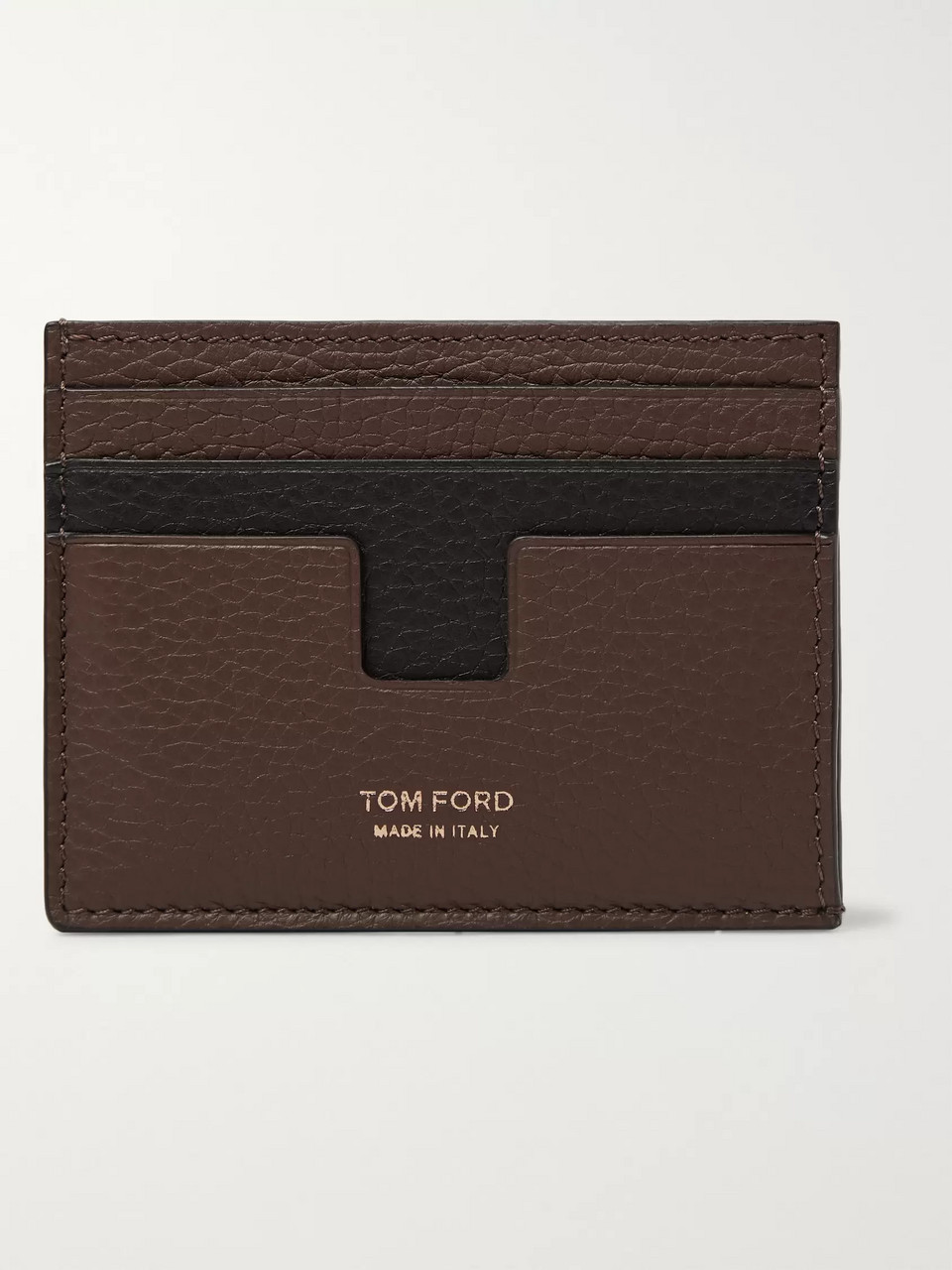 TOM FORD Two-Tone Full-Grain Leather Cardholder