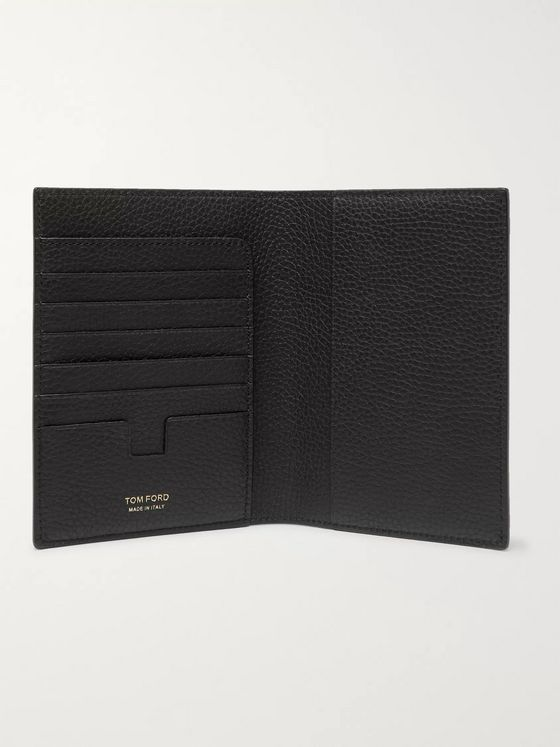TOM FORD Full-Grain Leather Passport Cover