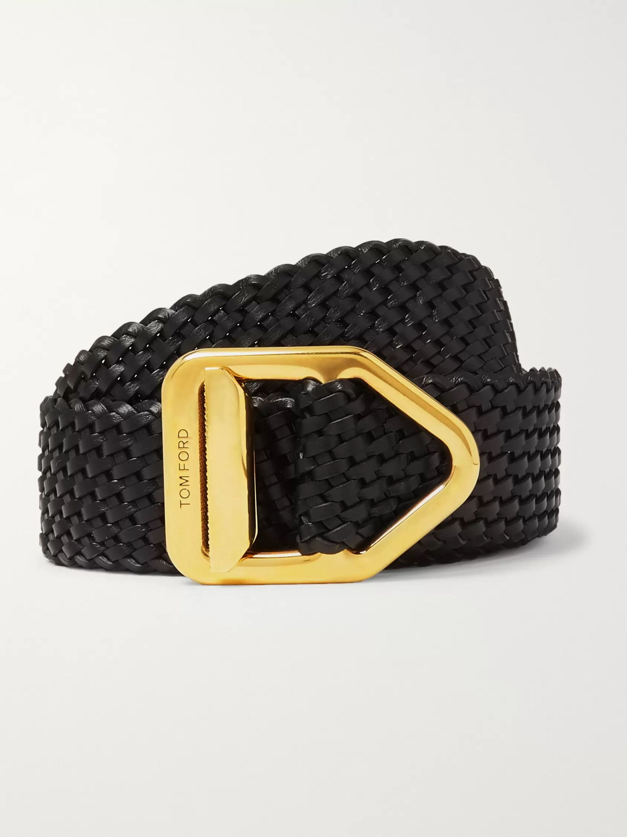 TOM FORD 3cm Woven Leather Belt