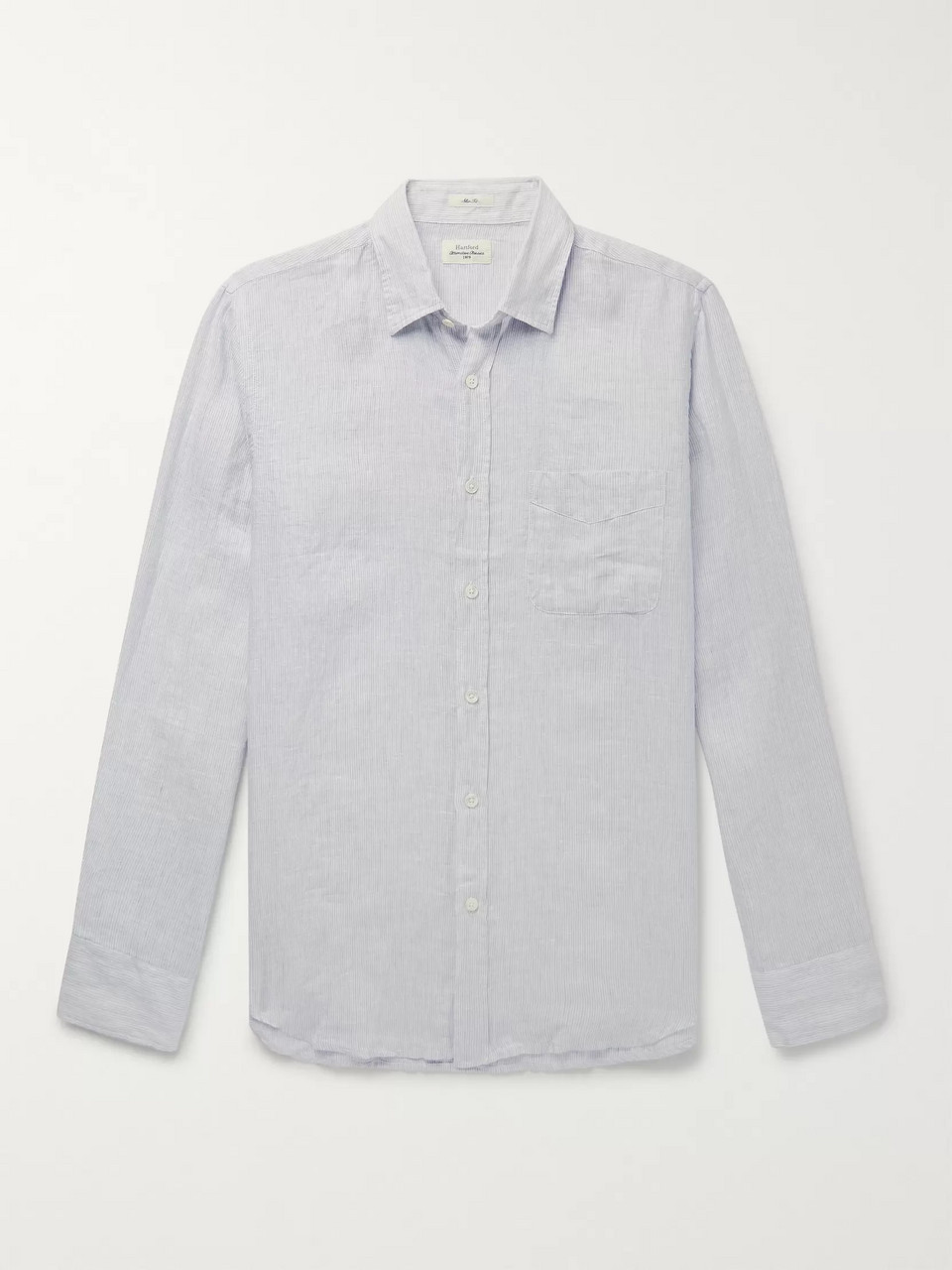 Hartford Storm Slim-Fit Striped Linen Shirt