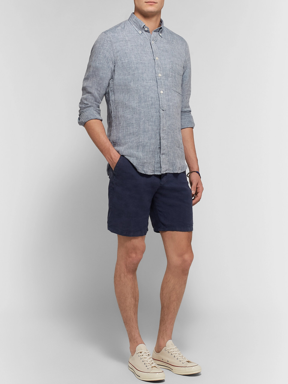 Hartford Sander Slim-Fit Linen Shirt