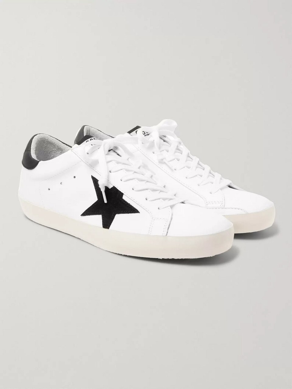 Golden Goose Superstar Leather and Suede Sneakers