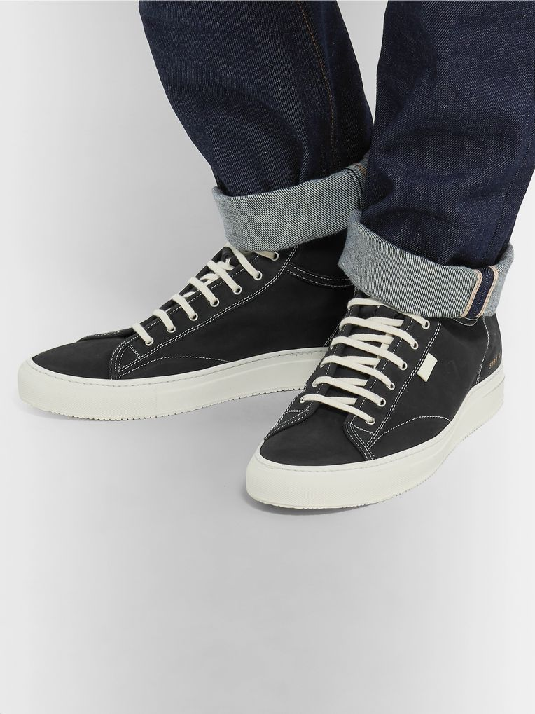 Common Projects Tournament Nubuck High-Top Sneakers