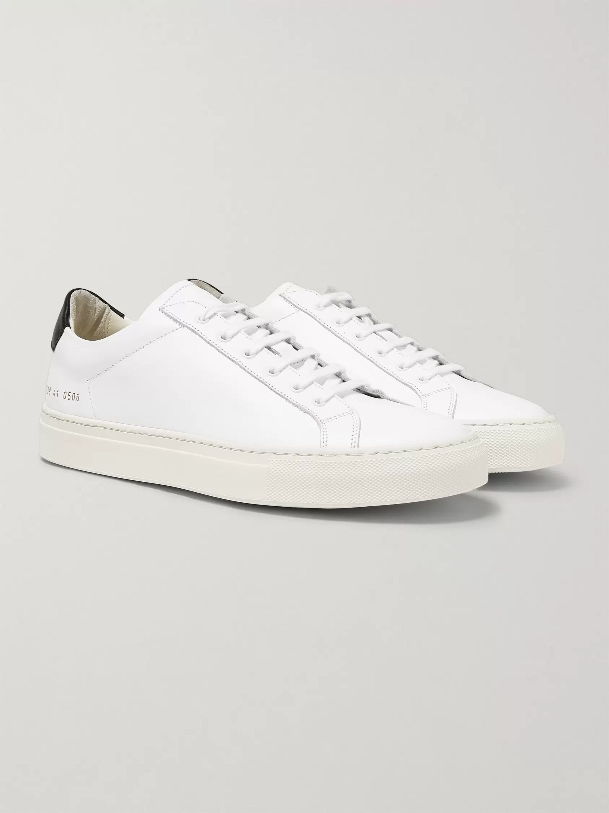 Achilles Retro Leather Sneakers