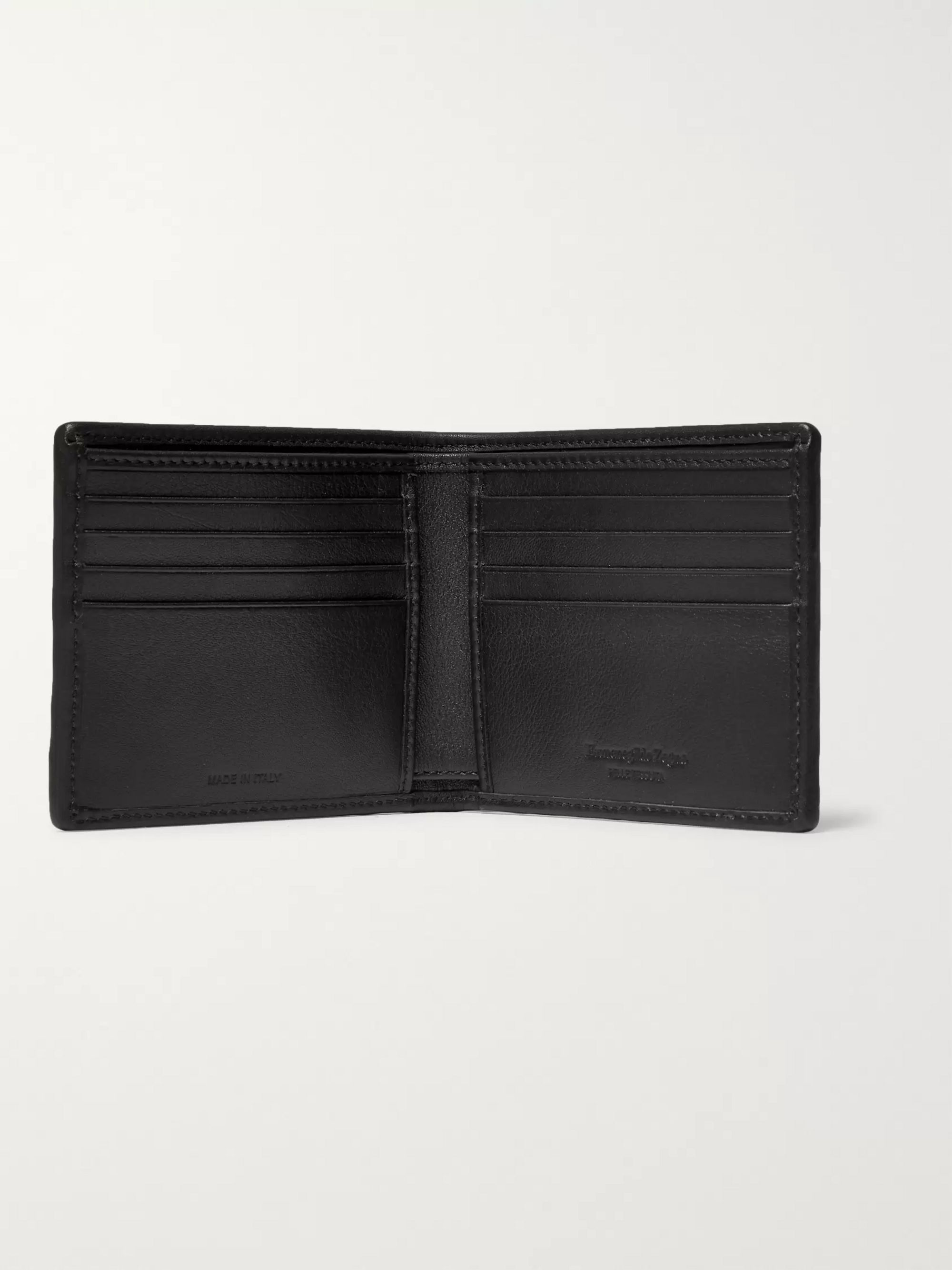 Ermenegildo Zegna PelleTessuta Leather Billfold Wallet